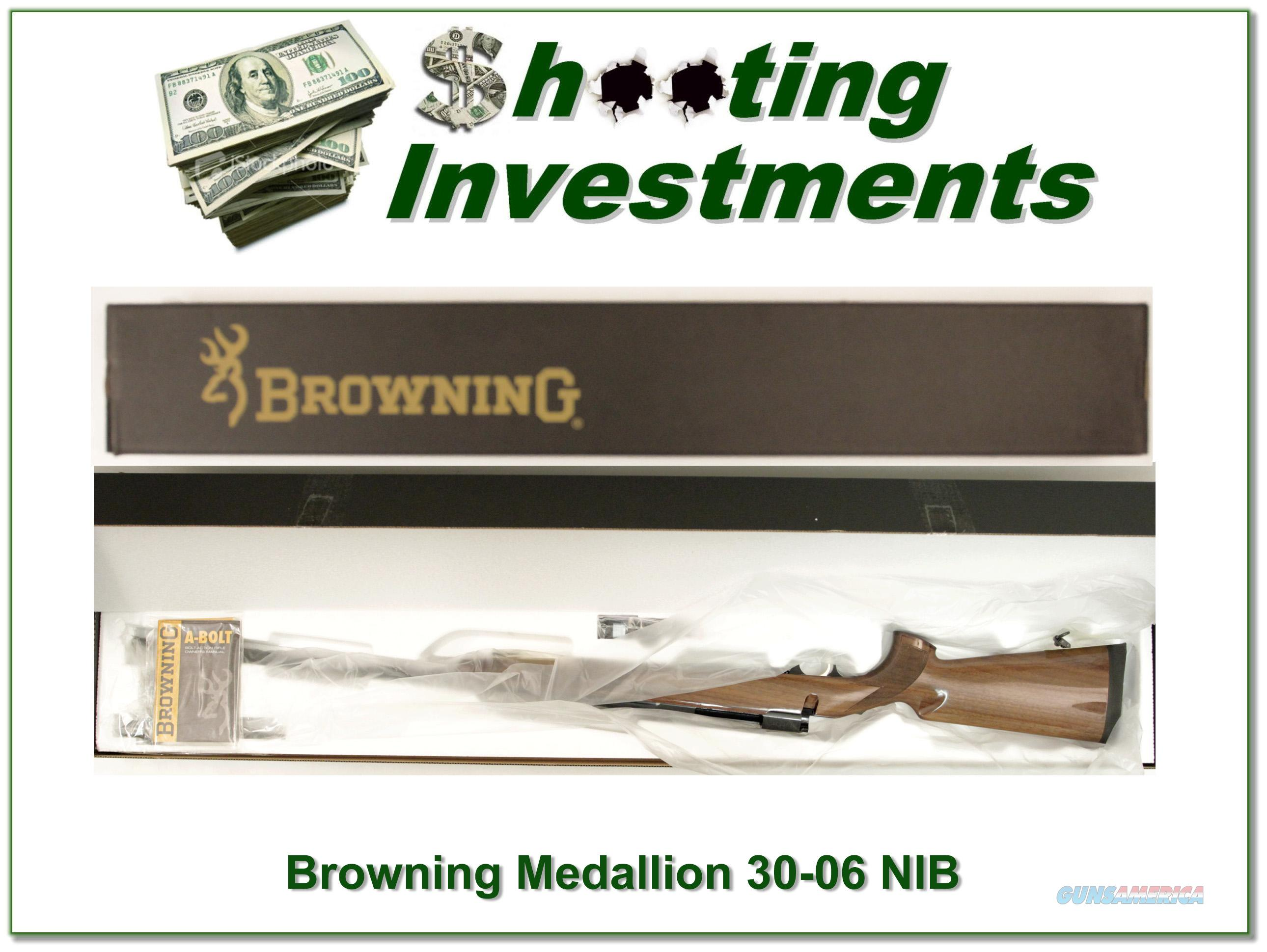 Browning A-bolt II Medallion 30-06 last ones!  Guns > Rifles > Browning Rifles > Bolt Action > Hunting > Blue