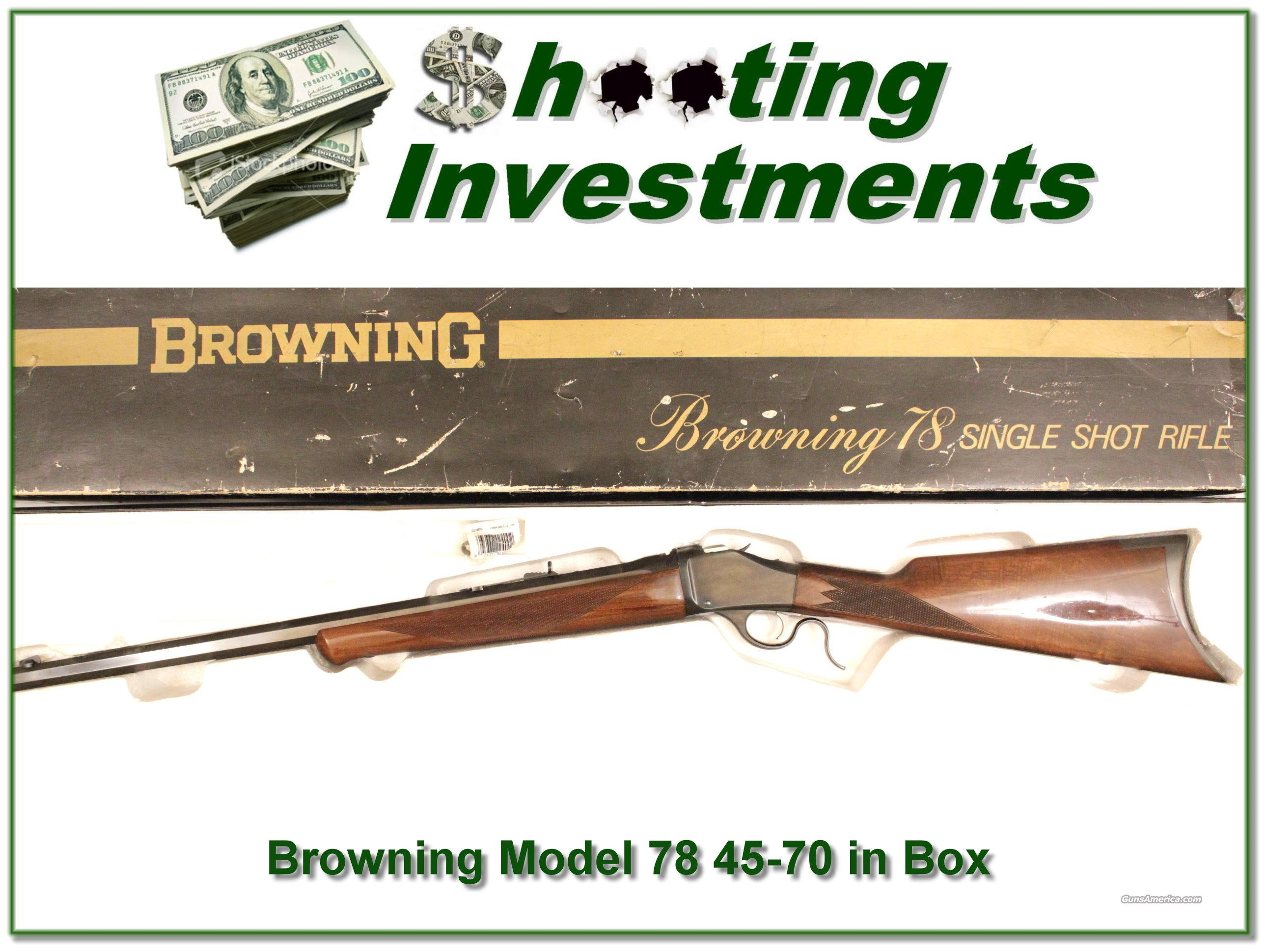 Browning Model 78 45-70 in box  Guns > Rifles > Browning Rifles > Singe Shot