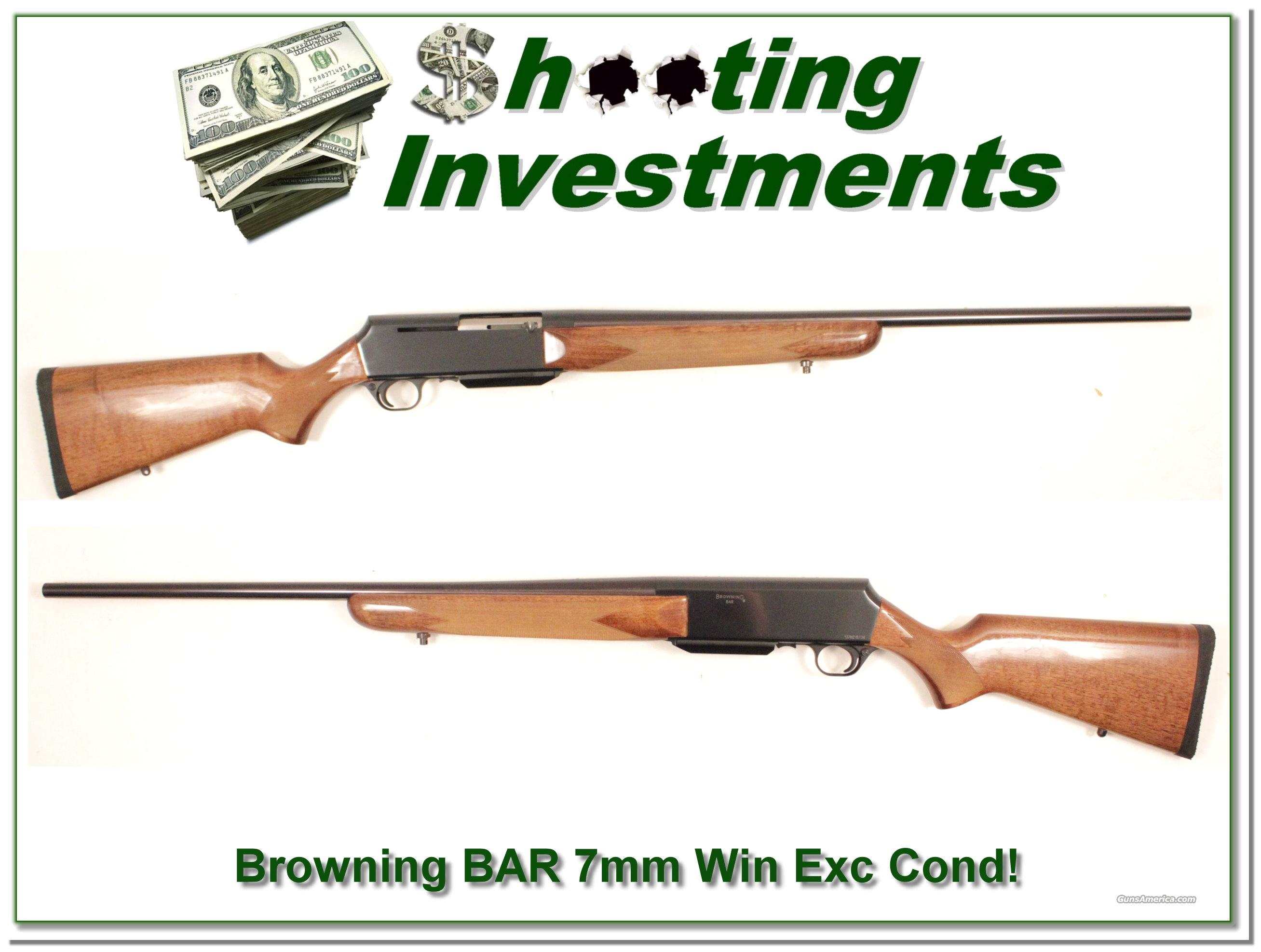 Browning BAR 7mm Rem Mag near new  Guns > Rifles > Browning Rifles > Semi Auto > Hunting