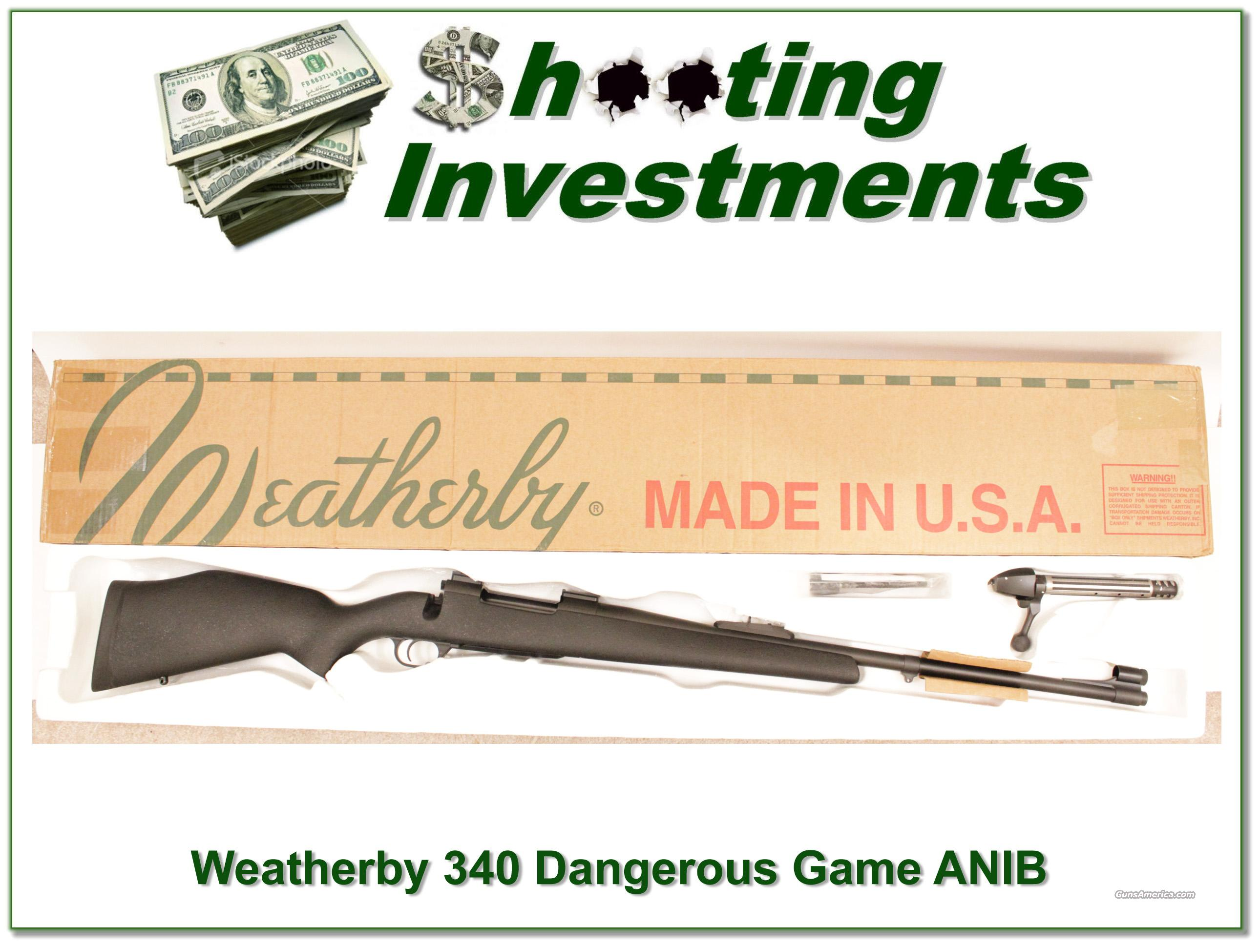 Weatherby Mark V 340 Custom Shop Dangerous Game Rifle!  Guns > Rifles > Weatherby Rifles > Sporting