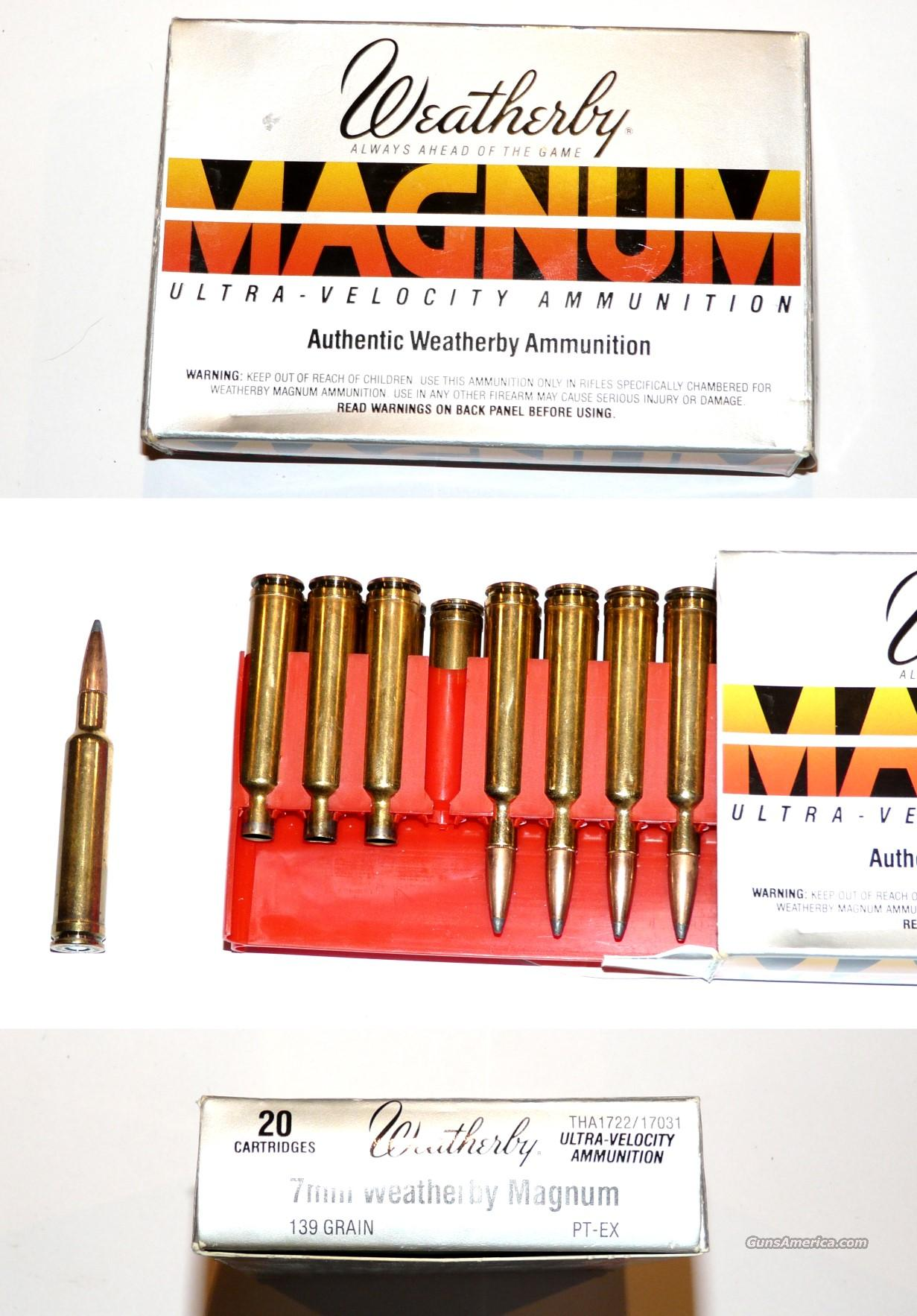 Weatherby 7mm Magnum Factory ammo and brass  Non-Guns > Ammunition