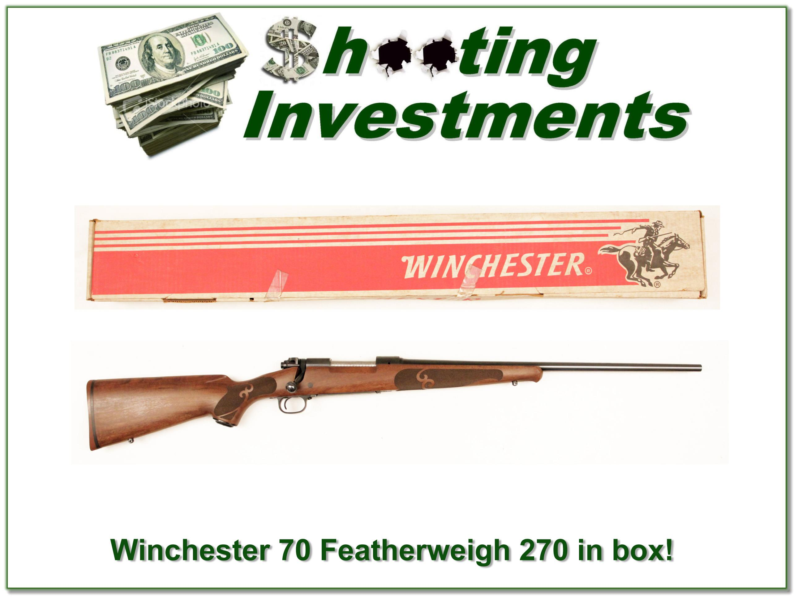 Winchester Model 70 Featherweight in box!  Guns > Rifles > Winchester Rifles - Modern Bolt/Auto/Single > Model 70 > Post-64