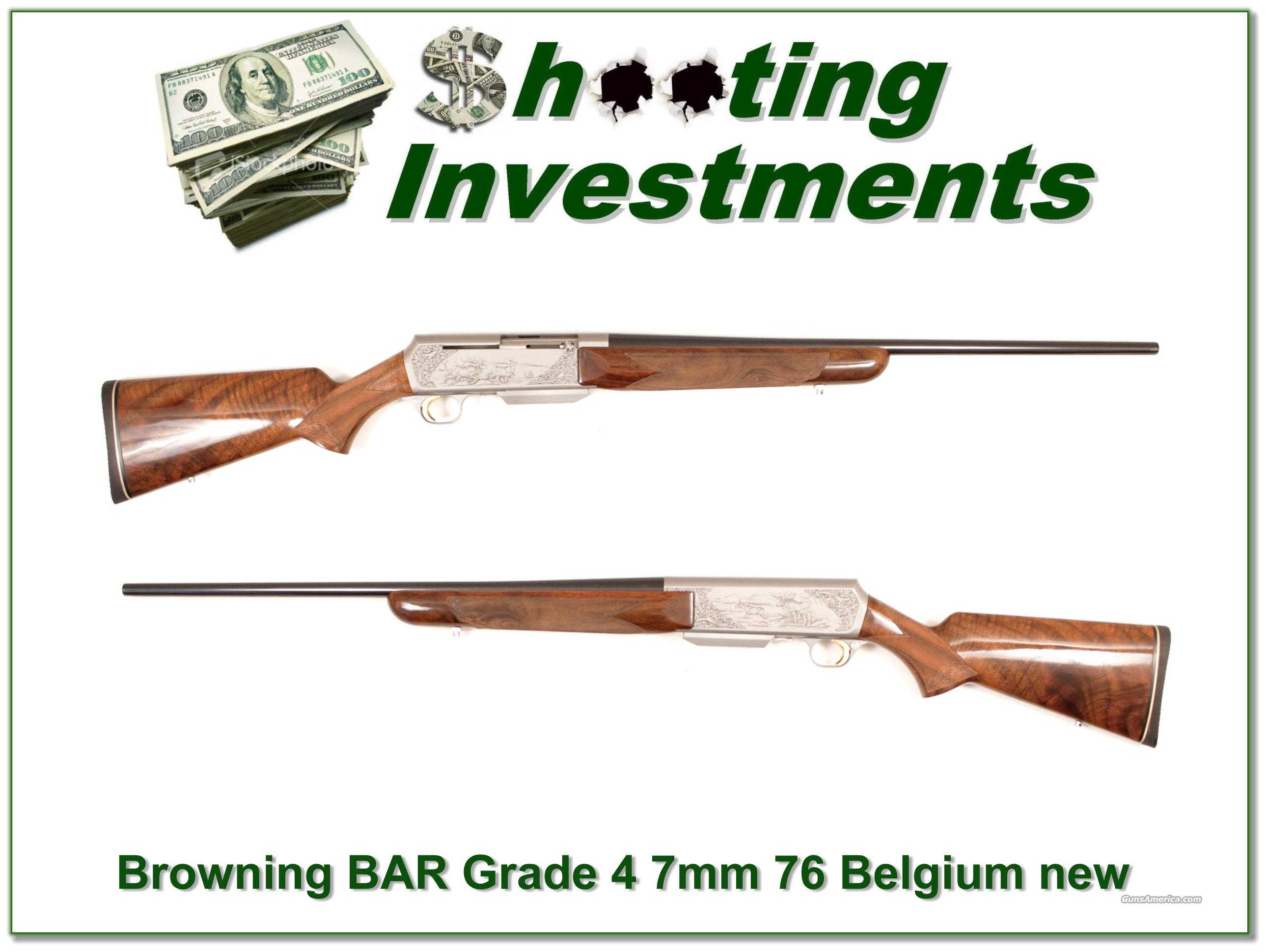 Browning BAR Grade 4 76 Belgium New!  Guns > Rifles > Browning Rifles > Semi Auto > Hunting