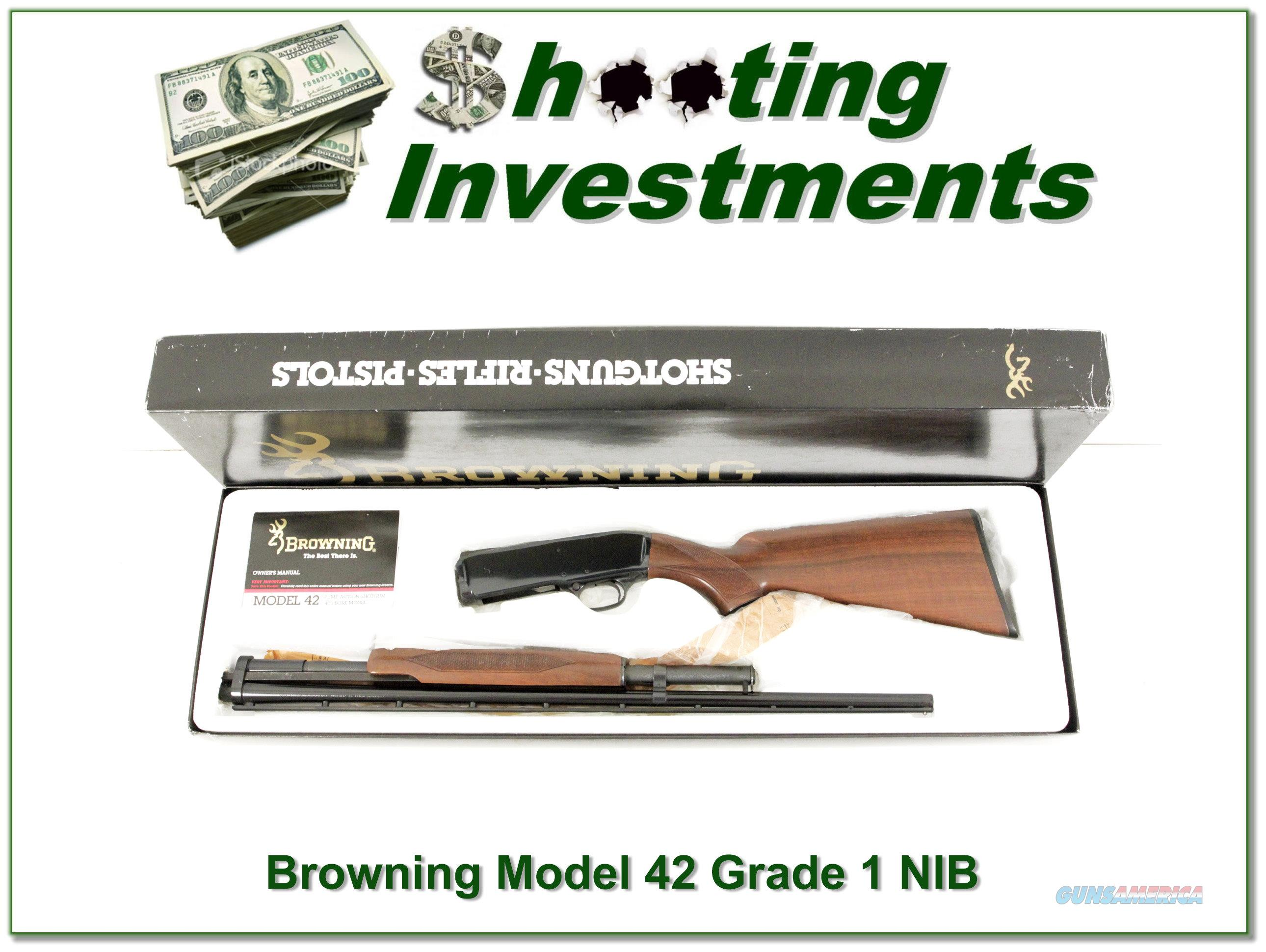 Browning Model 42 410 unfired and NIB Box!  Guns > Shotguns > Browning Shotguns > Autoloaders > Hunting