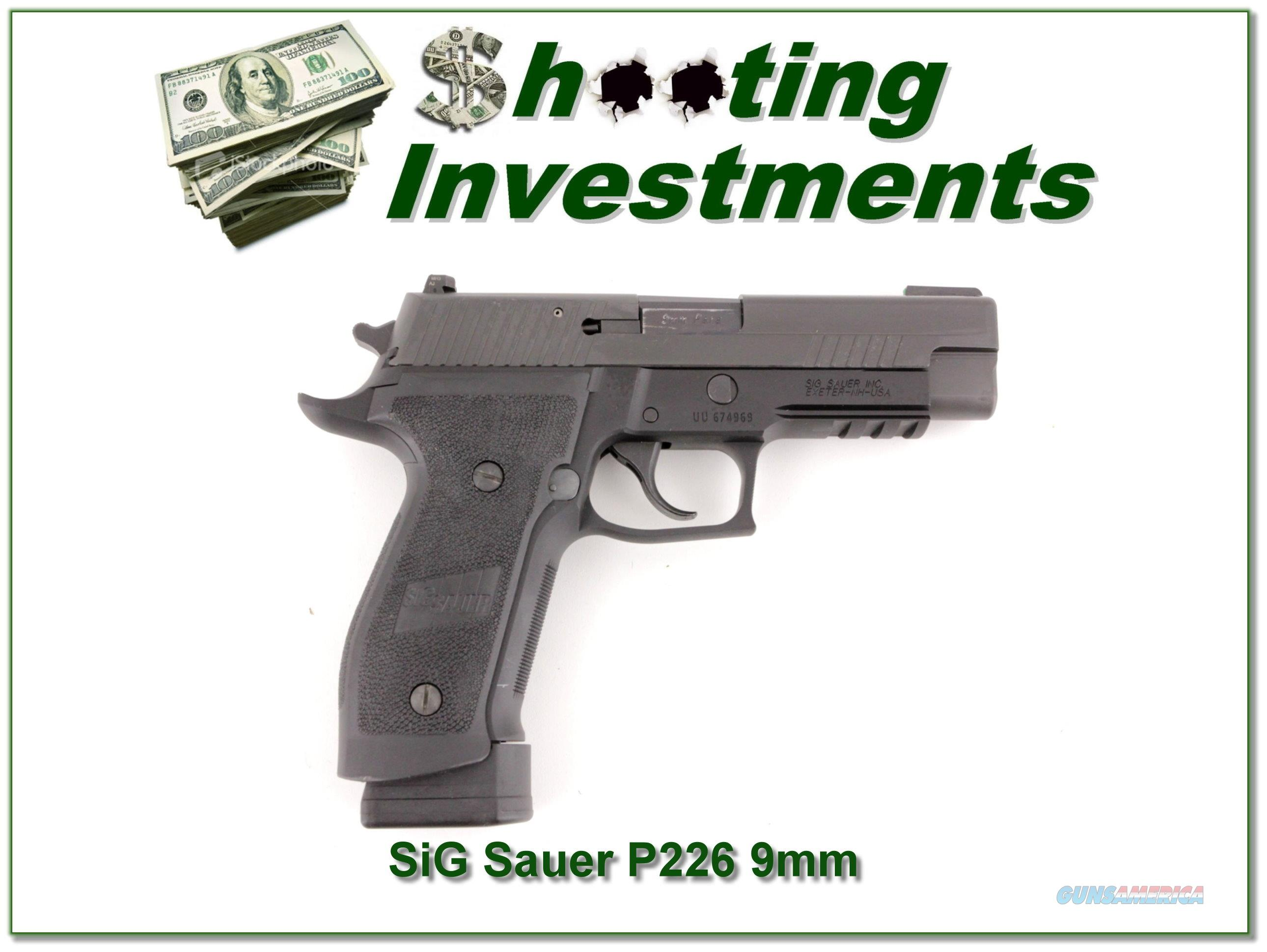 Sig Sauer P226 Tacops 9mm Exc Cond  Guns > Pistols > Sig - Sauer/Sigarms Pistols > P226