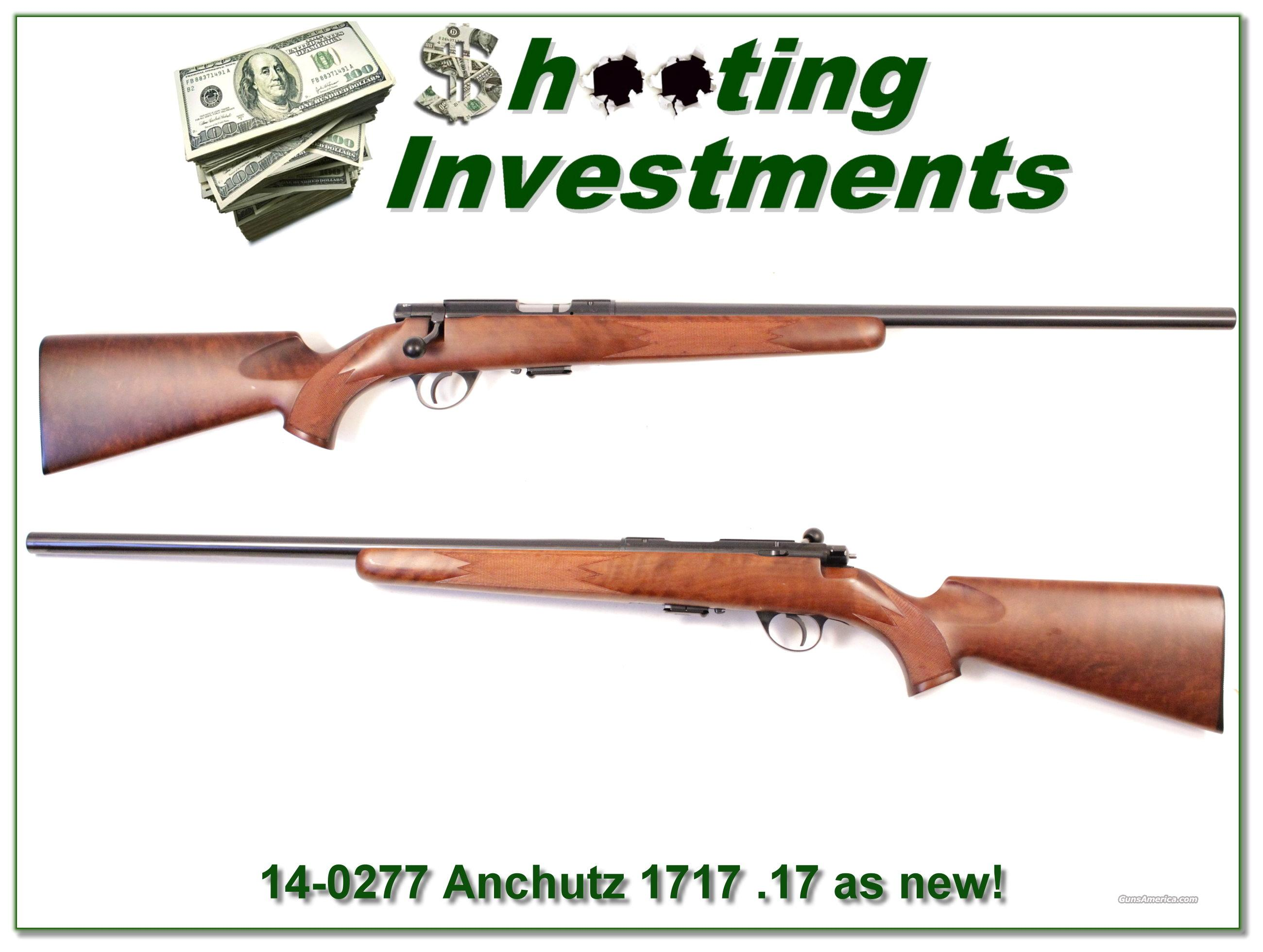 Anschutz 1717 17 HMR as new nice wood!  Guns > Rifles > Anschutz Rifles
