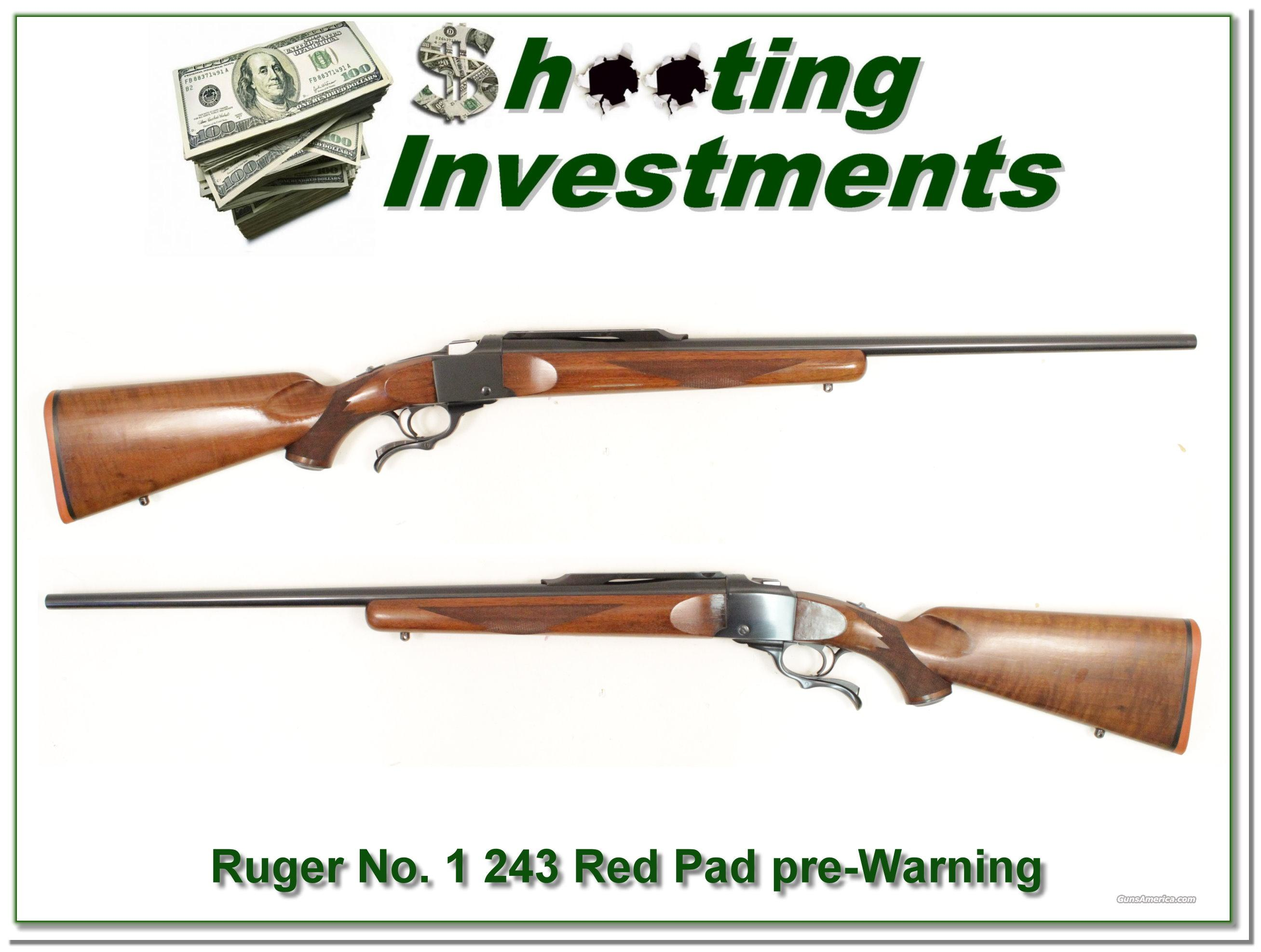 Ruger No. 1 B Sporter 243 Pre-Warning Exc Cond!  Guns > Rifles > Ruger Rifles > #1 Type