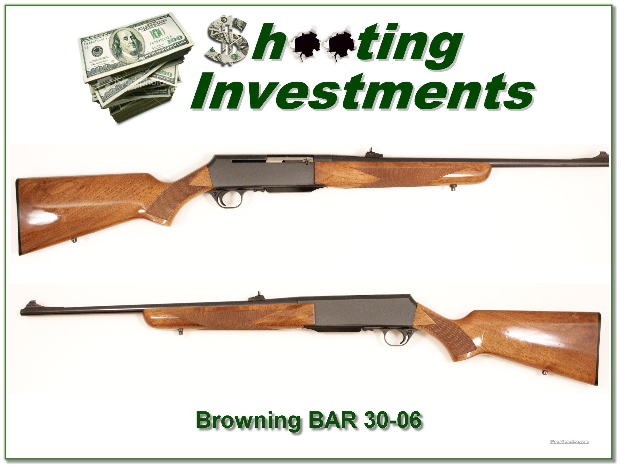 Browning BAR 30-06   Guns > Rifles > Browning Rifles > Bolt Action > Hunting > Blue