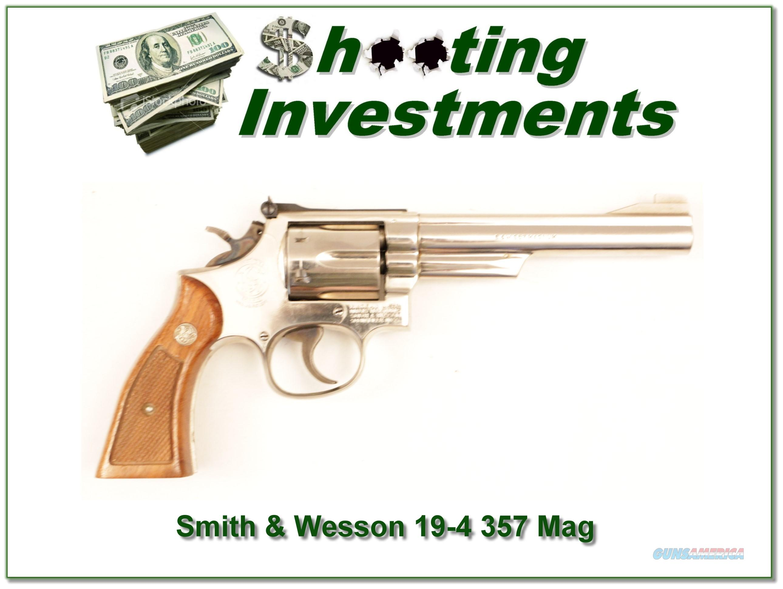 Smith & Wesson 19-4 357 Magnum Chrome 6 in  Guns > Pistols > Smith & Wesson Revolvers > Full Frame Revolver
