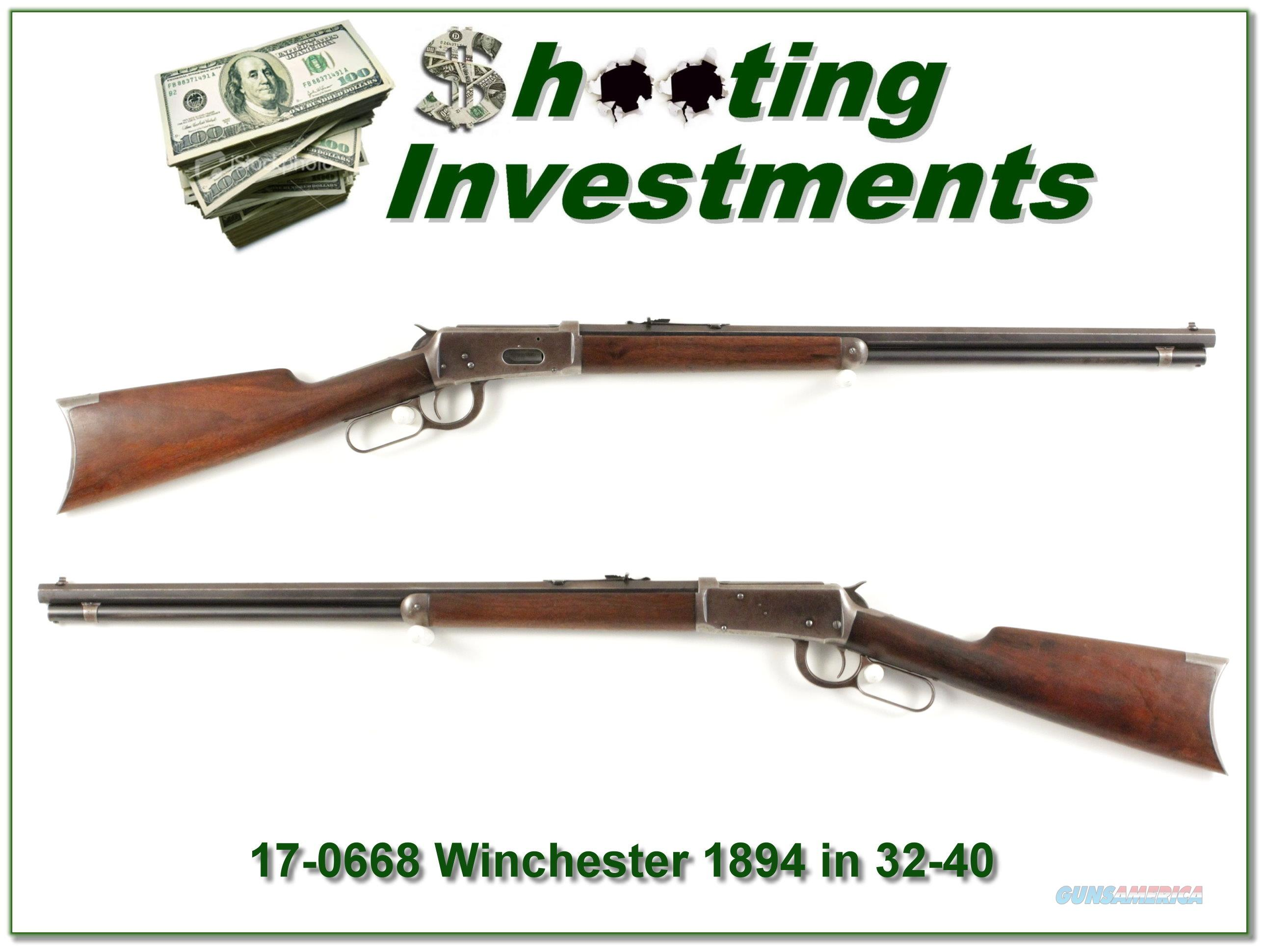 Winchester 1894 32-40 made in 1902!  Guns > Rifles > Winchester Rifles - Modern Lever > Other Lever > Pre-64