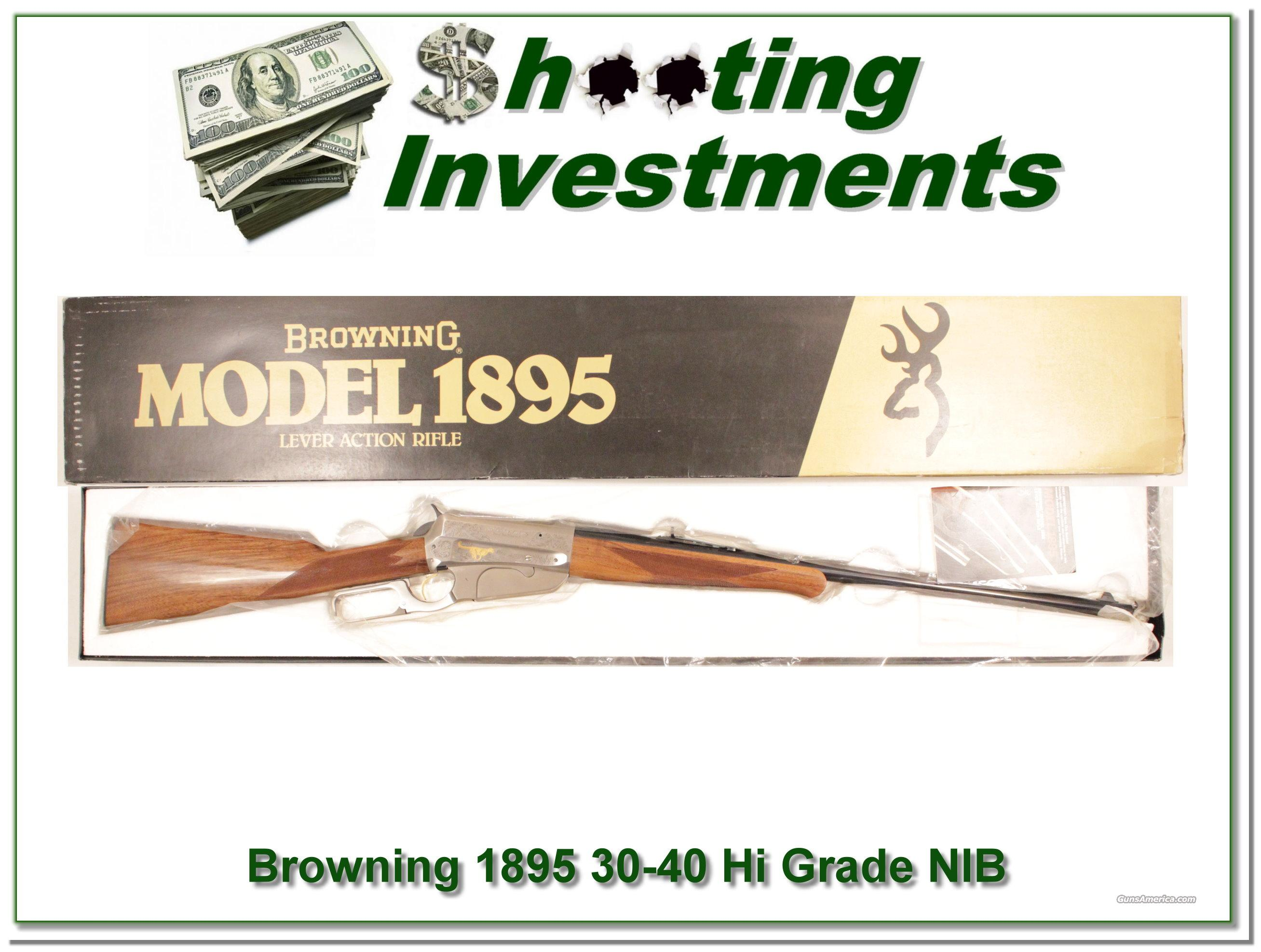 Browning 1895 30-40 Krag HIGH GRADE Unfired in box!  Guns > Rifles > Browning Rifles > Lever Action