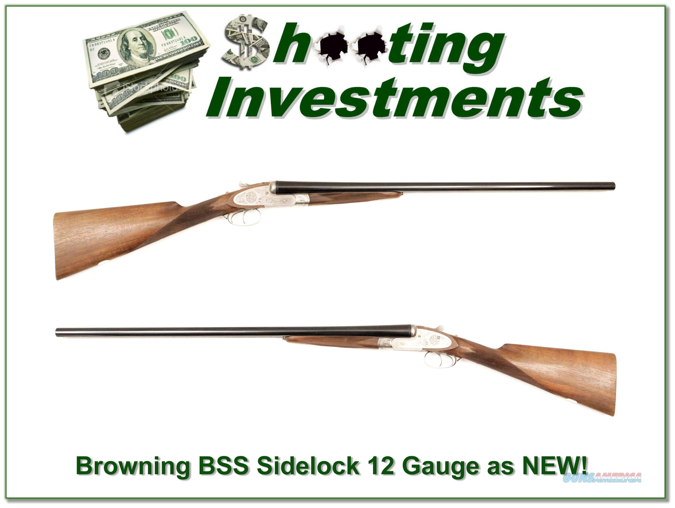 Browning BSS Sidelock 12 Gauge 28in as new!  Guns > Shotguns > Browning Shotguns > Side by Sides