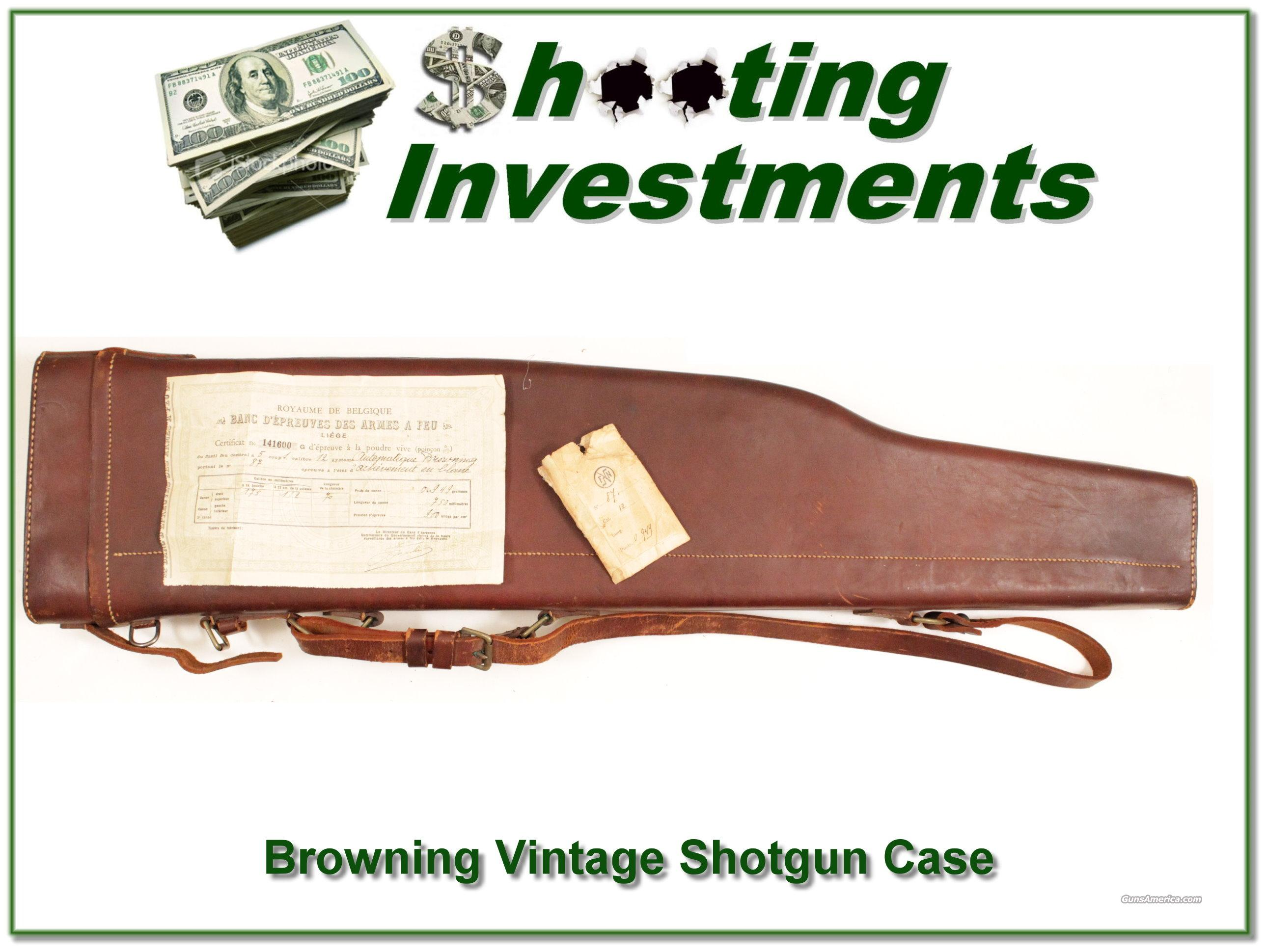 Vintage Browning Leather Gun Case for A5  Non-Guns > Gun Cases