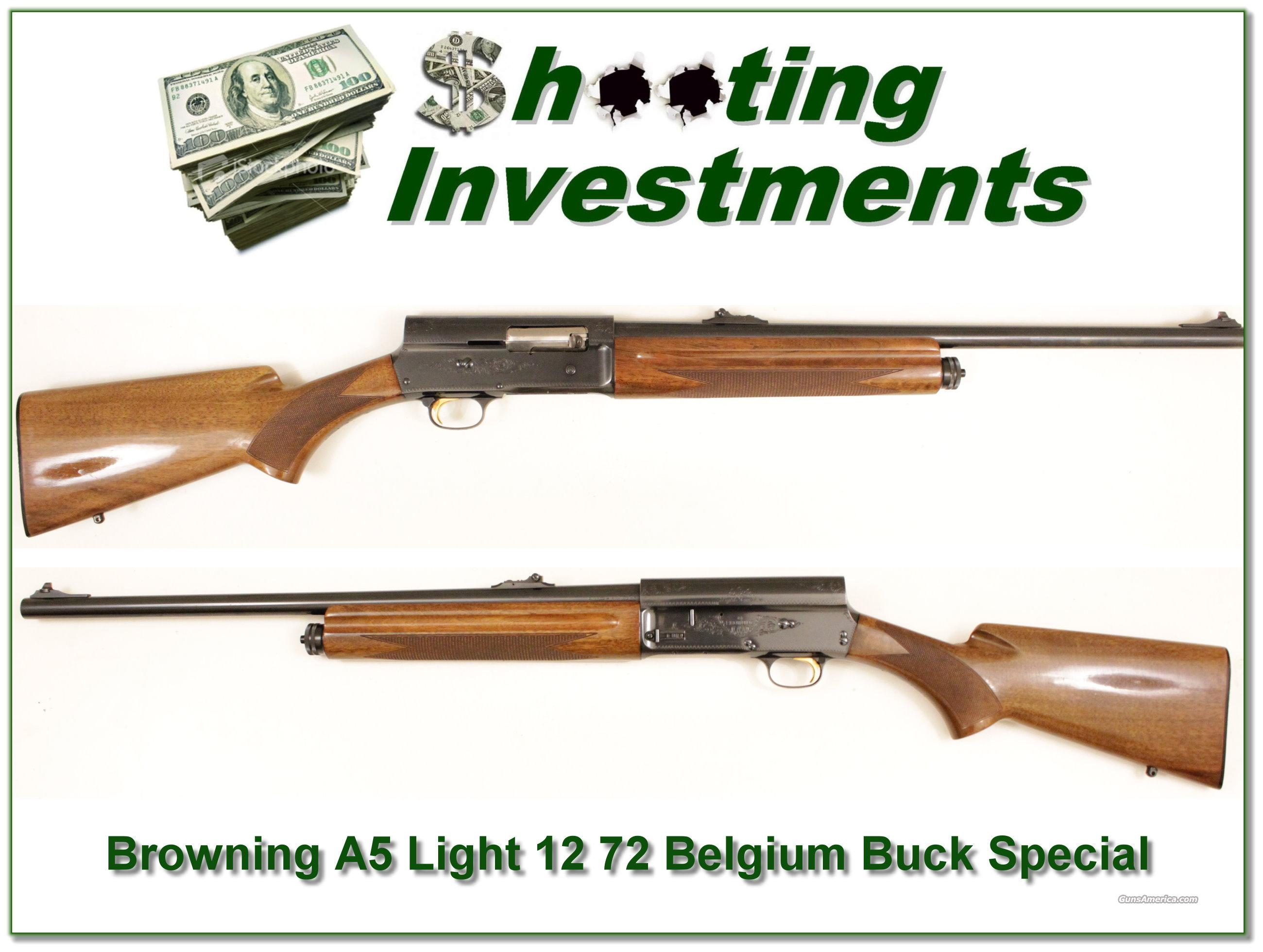 Browning A5 72 Buck Special Light 12  Guns > Shotguns > Browning Shotguns > Autoloaders > Hunting