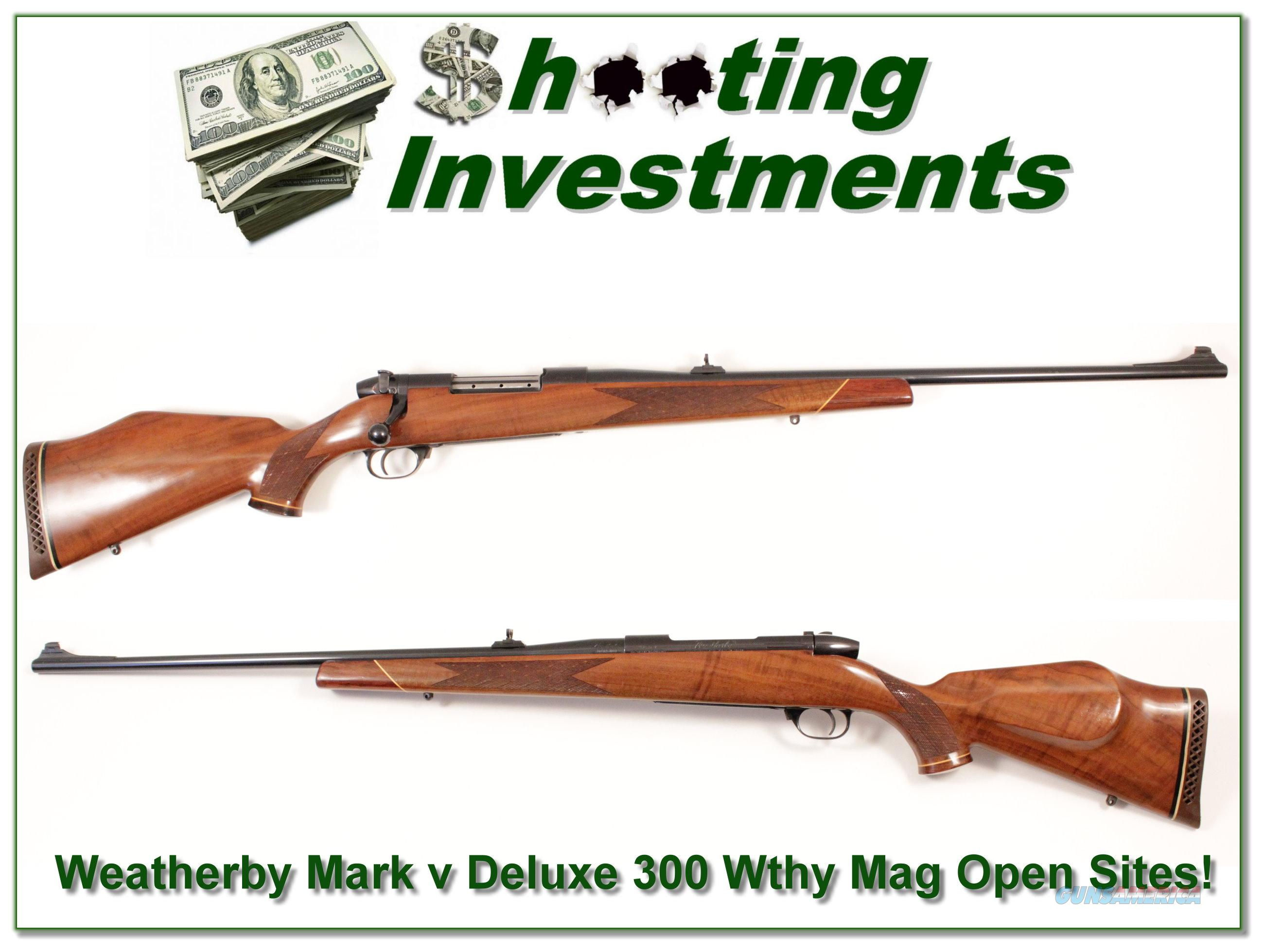 Weatherby Mark V Dleuxe 300 Wthy Mag  Guns > Rifles > Weatherby Rifles > Sporting