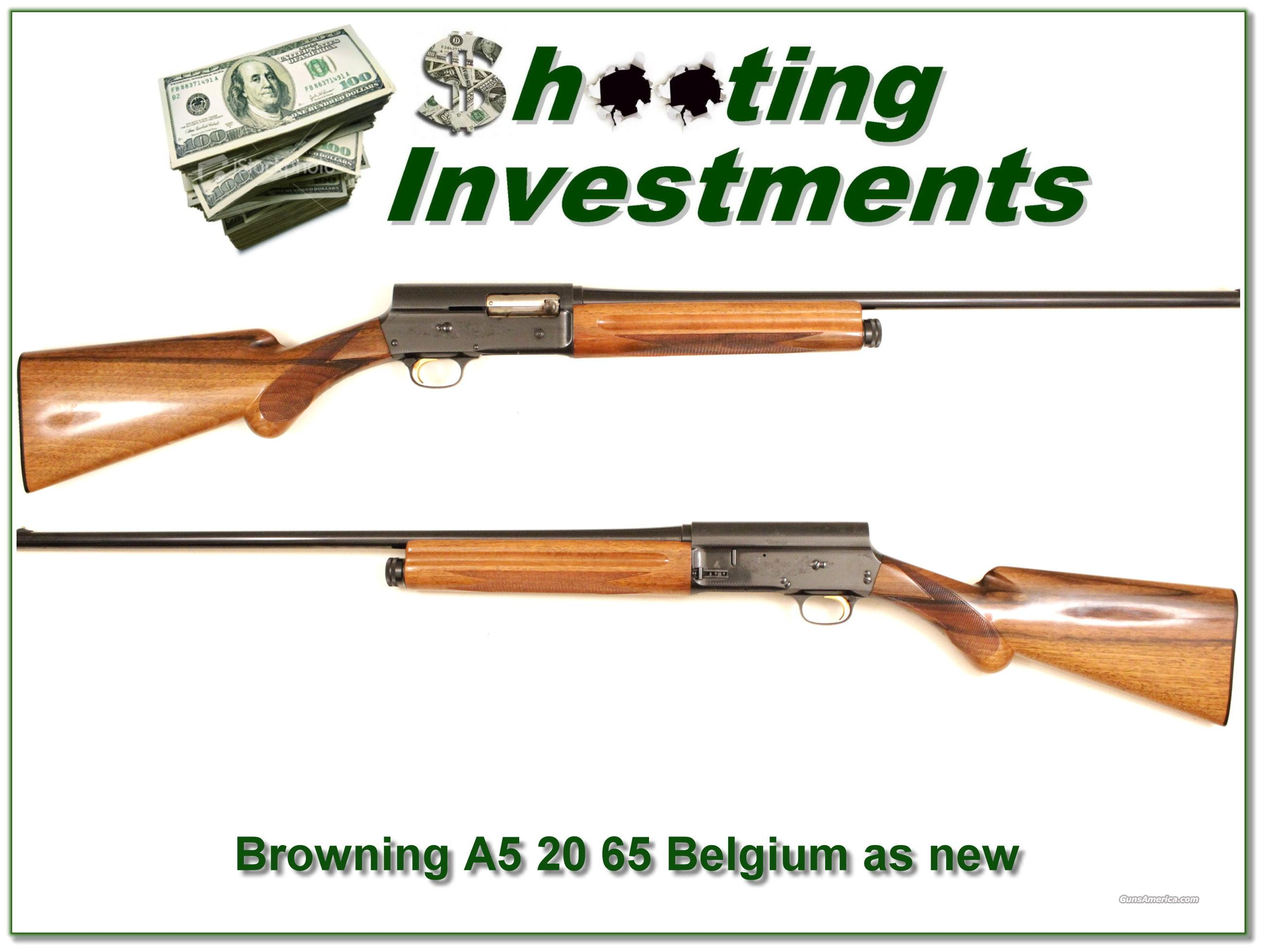 Browning A5 20 gauge 65 Belgium near new!  Guns > Shotguns > Browning Shotguns > Autoloaders > Hunting