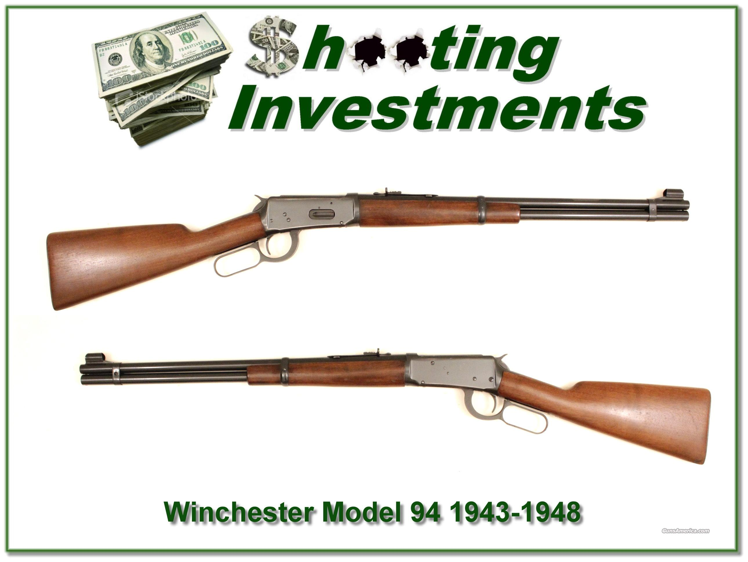 Winchester Model 94 30-30 1943-48 Exc Cond!  Guns > Rifles > Winchester Rifles - Modern Lever > Model 94 > Pre-64