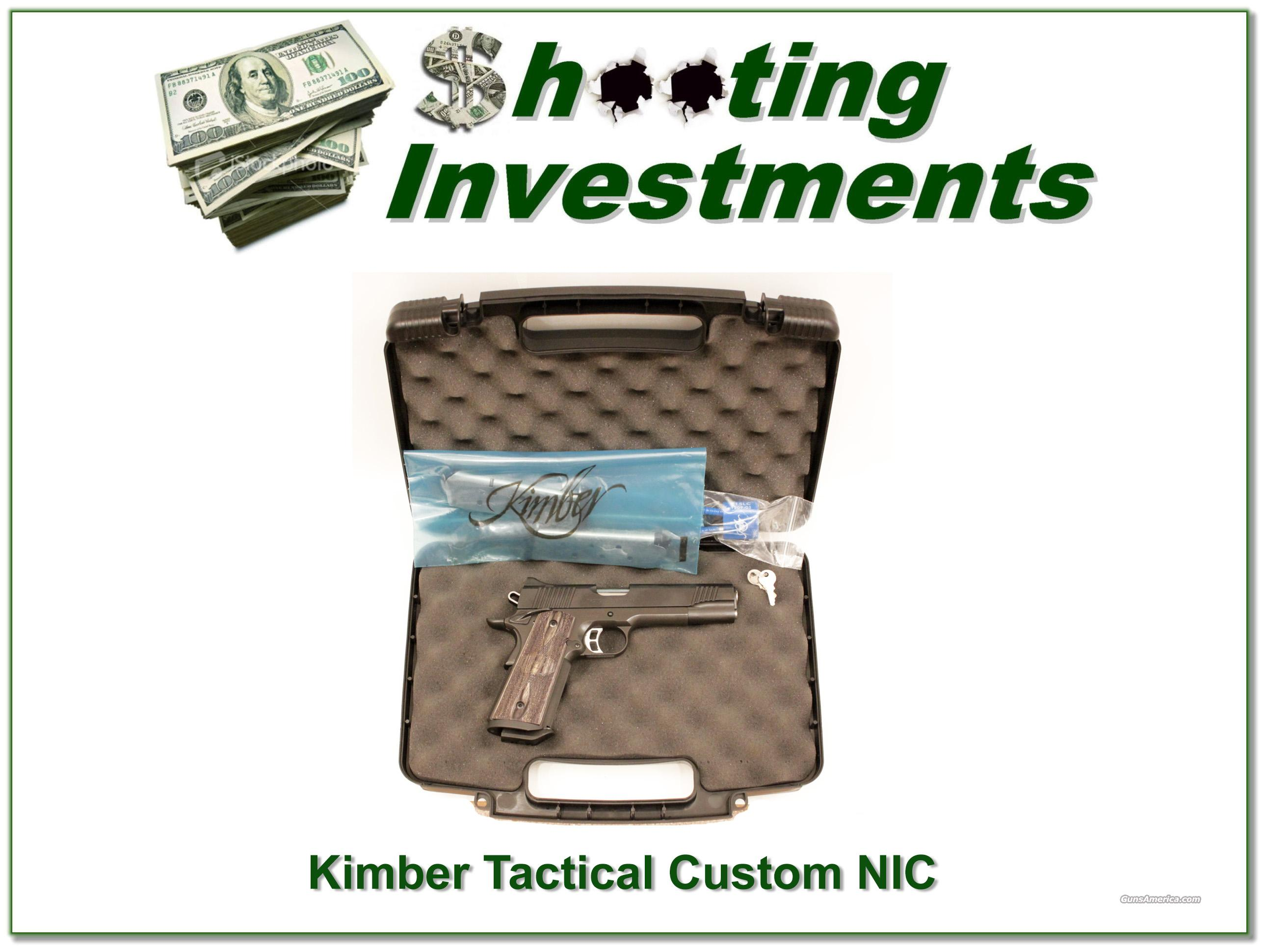 Kimber Tactical Custom HD .45 NIB  Guns > Pistols > Kimber of America Pistols
