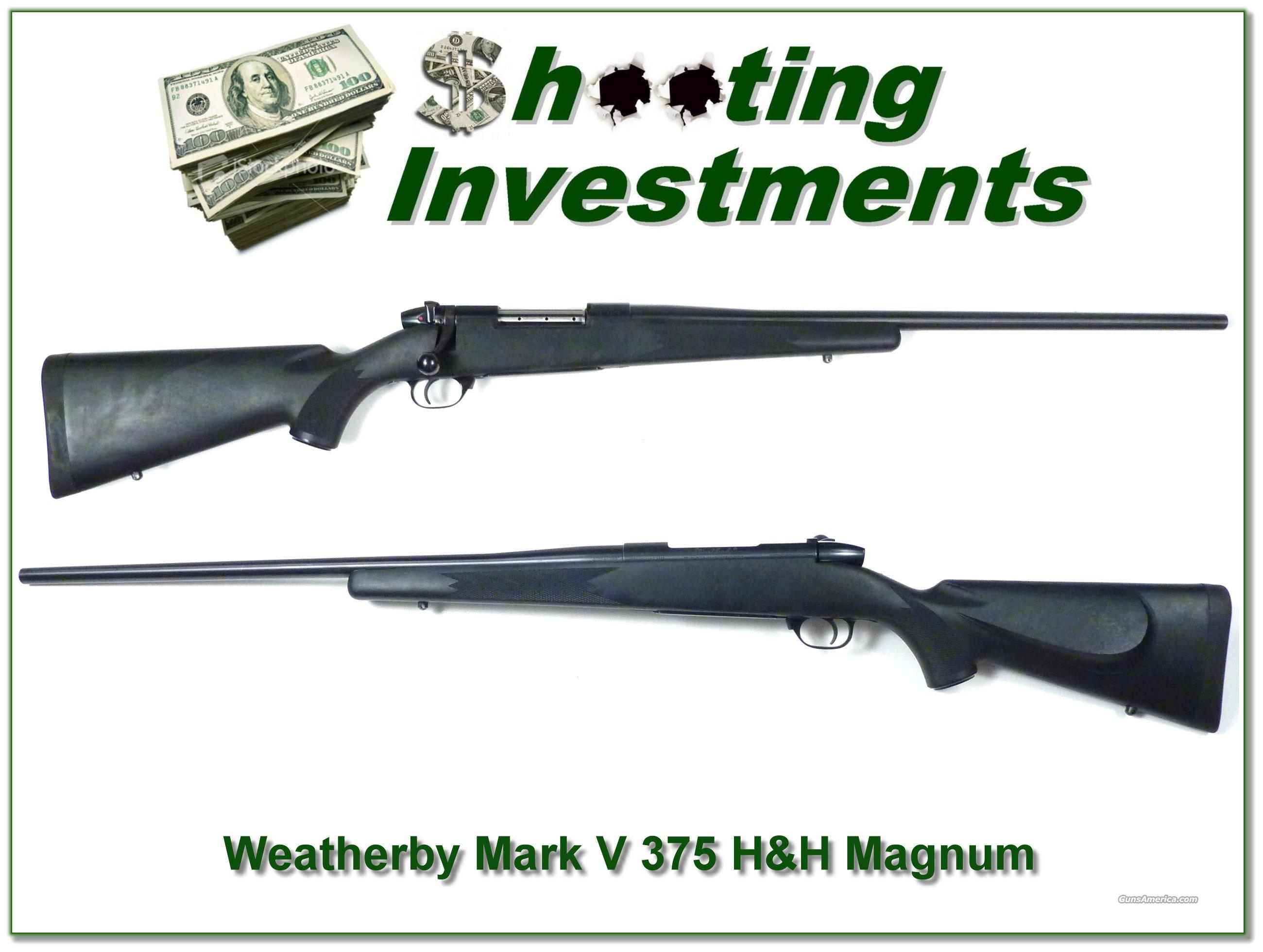 Weatherby Mark V 375 H&H Magnum  Guns > Rifles > Weatherby Rifles > Sporting