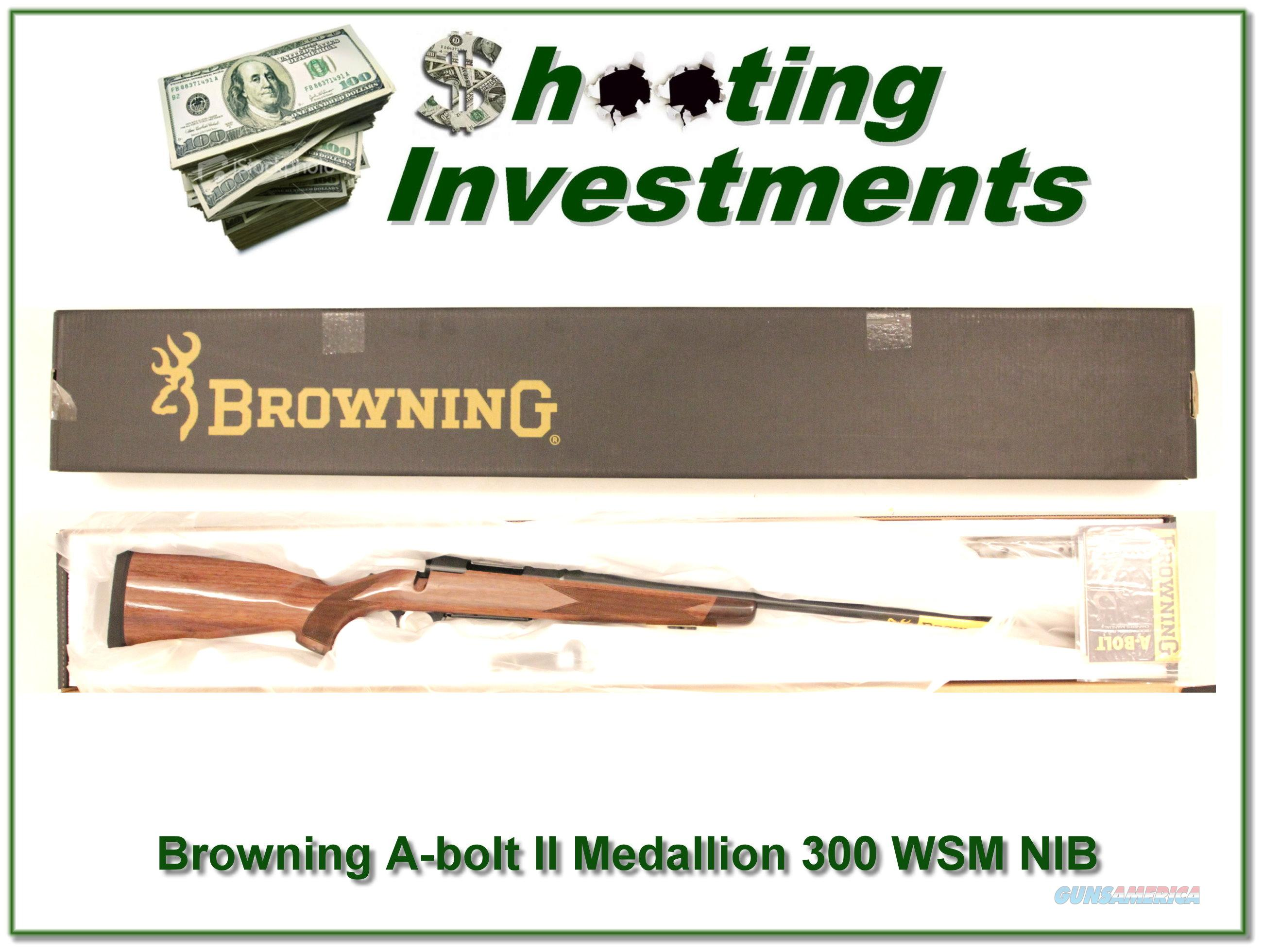 Browning A-bolt II Medallion 300 WSM last of the new ones!  Guns > Rifles > Browning Rifles > Bolt Action > Hunting > Stainless