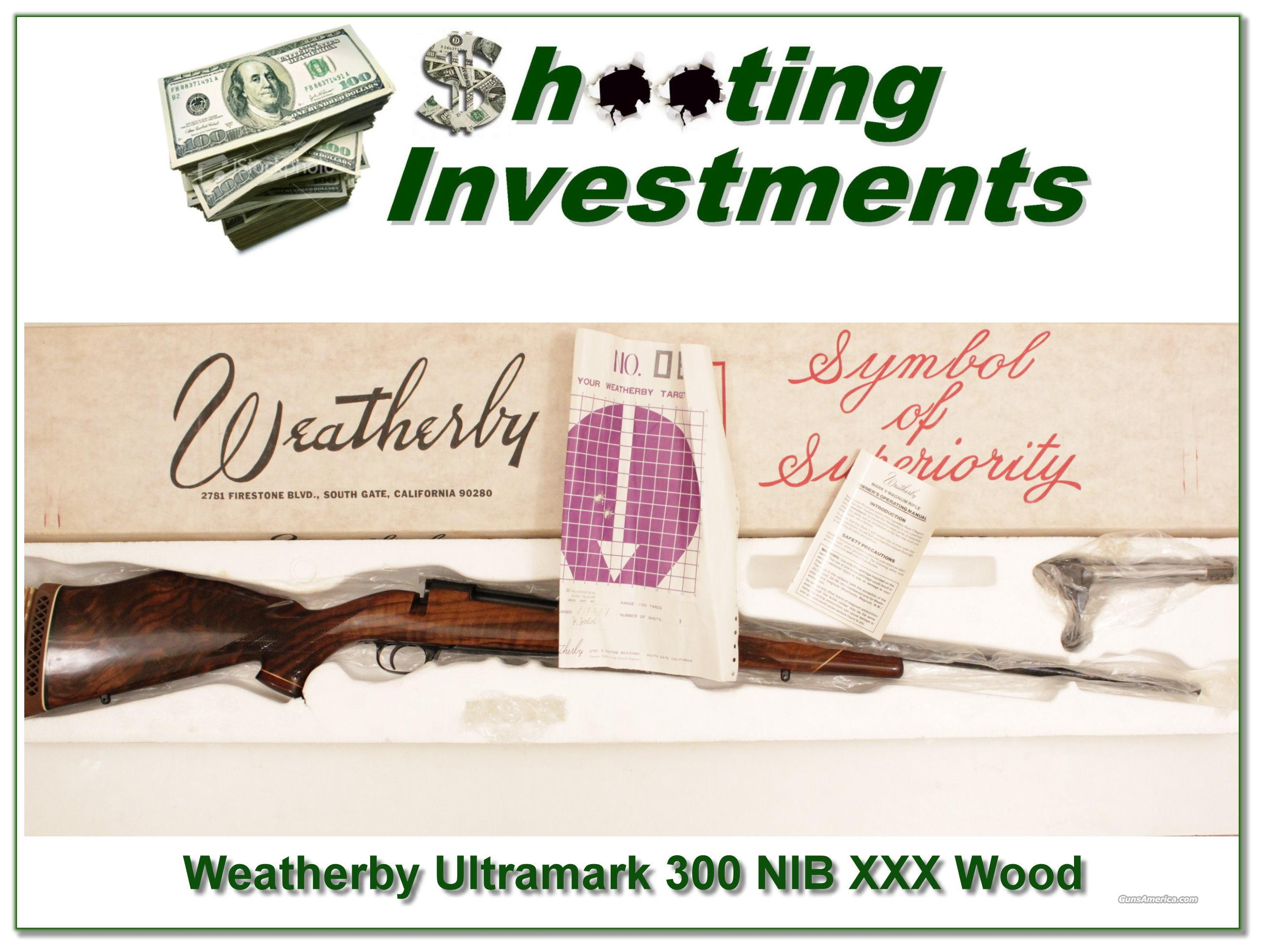 Weatherby Mark V Ultramark new and perfect with XXX Wood!  Guns > Rifles > Weatherby Rifles > Sporting