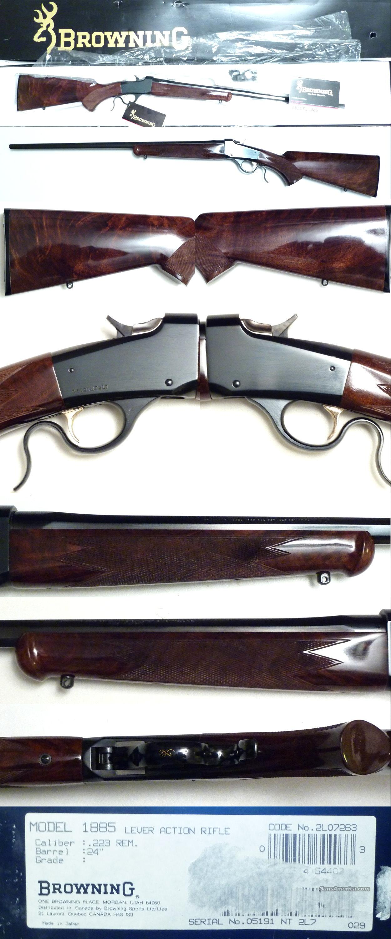 Browning 1885 .223 ANIB with very nice wood  Guns > Rifles > Browning Rifles > Singe Shot