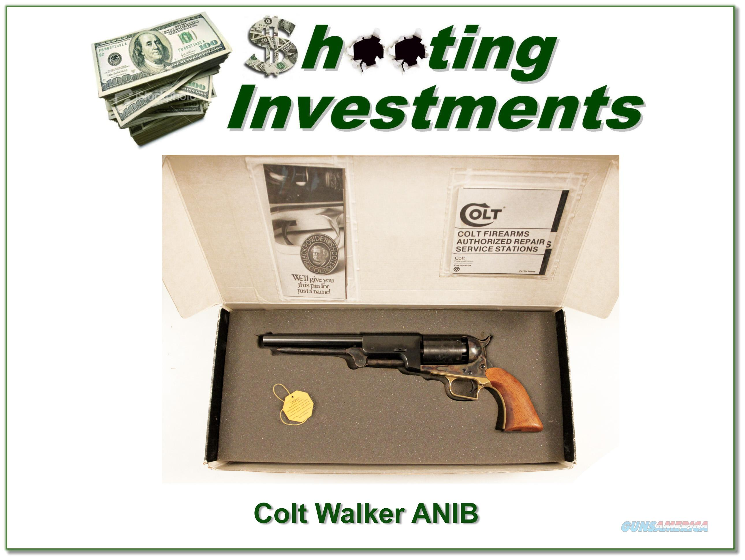 "Colt Walker 1847 2nd Gen 9"" .44Cal  NIB  Guns > Pistols > Colt Double Action Revolvers- Pre-1945"