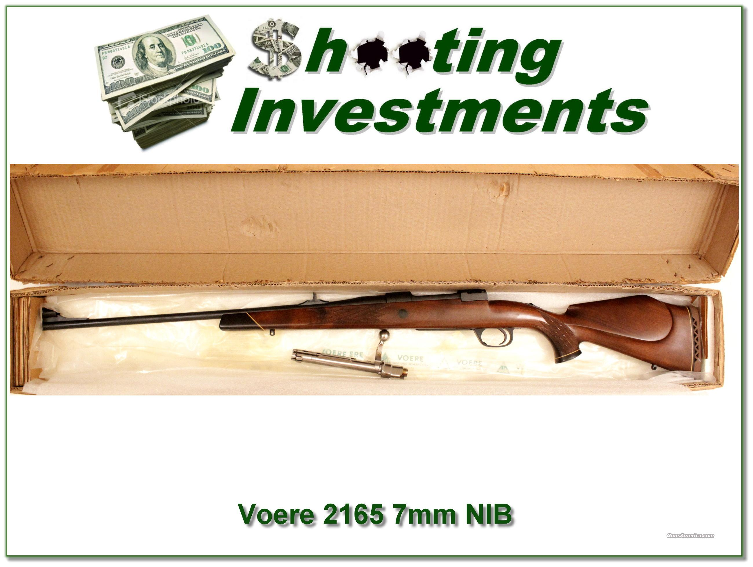 Voere Model 2165 Mauser in 7mm Rem Mag NIB  Guns > Rifles > Voere Rifles