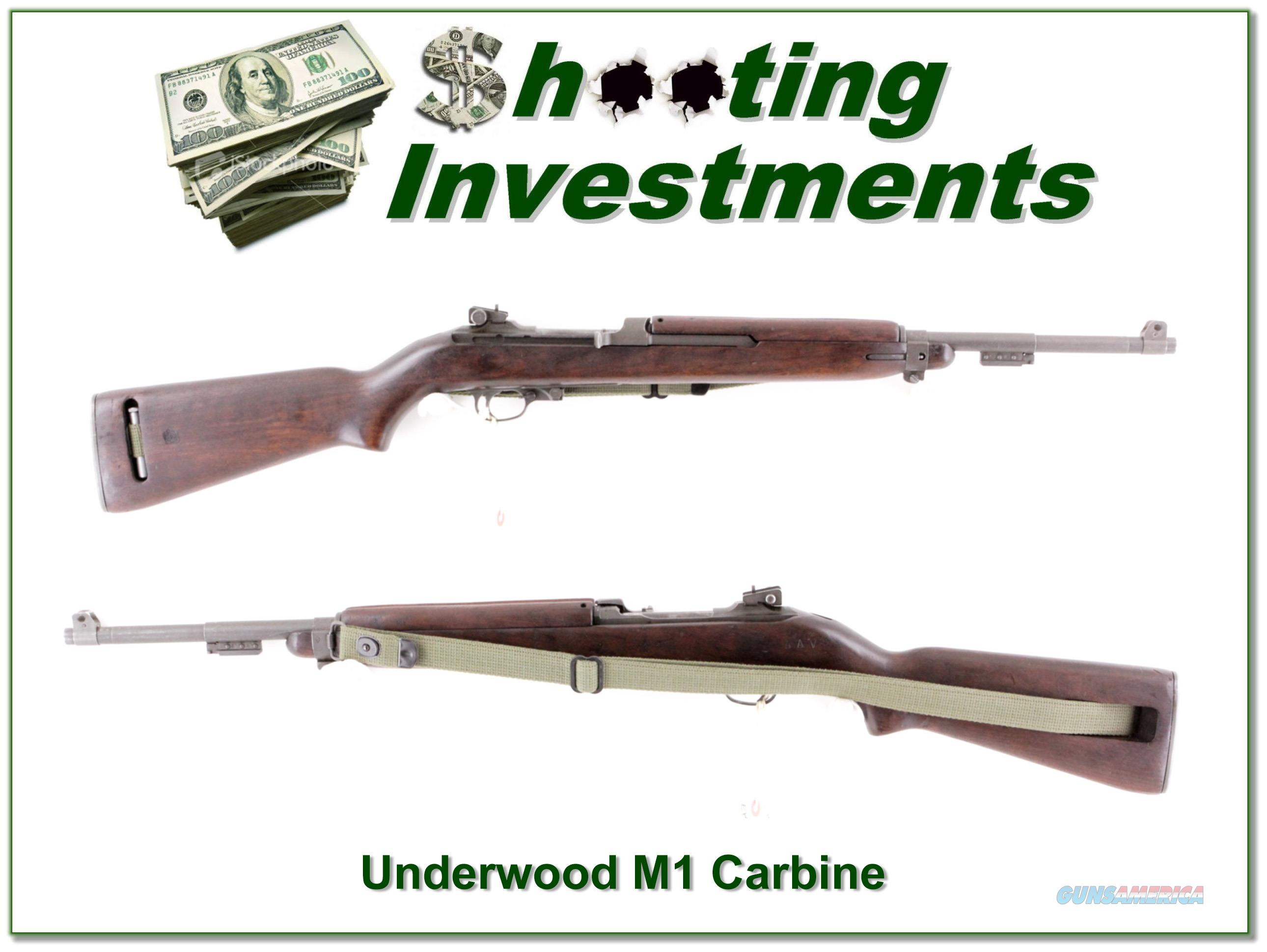 Underwood Elliot-Fisher M1 Carbine made in 1944  Guns > Rifles > United States Patent Firearms Rifles