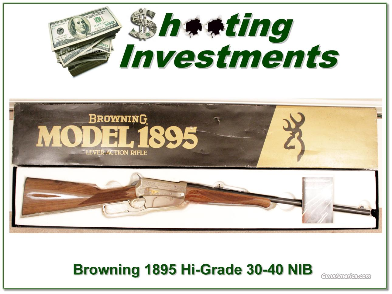 Browning 1895 High Grade 30-40 30/40 NIB  Guns > Rifles > Browning Rifles > Lever Action