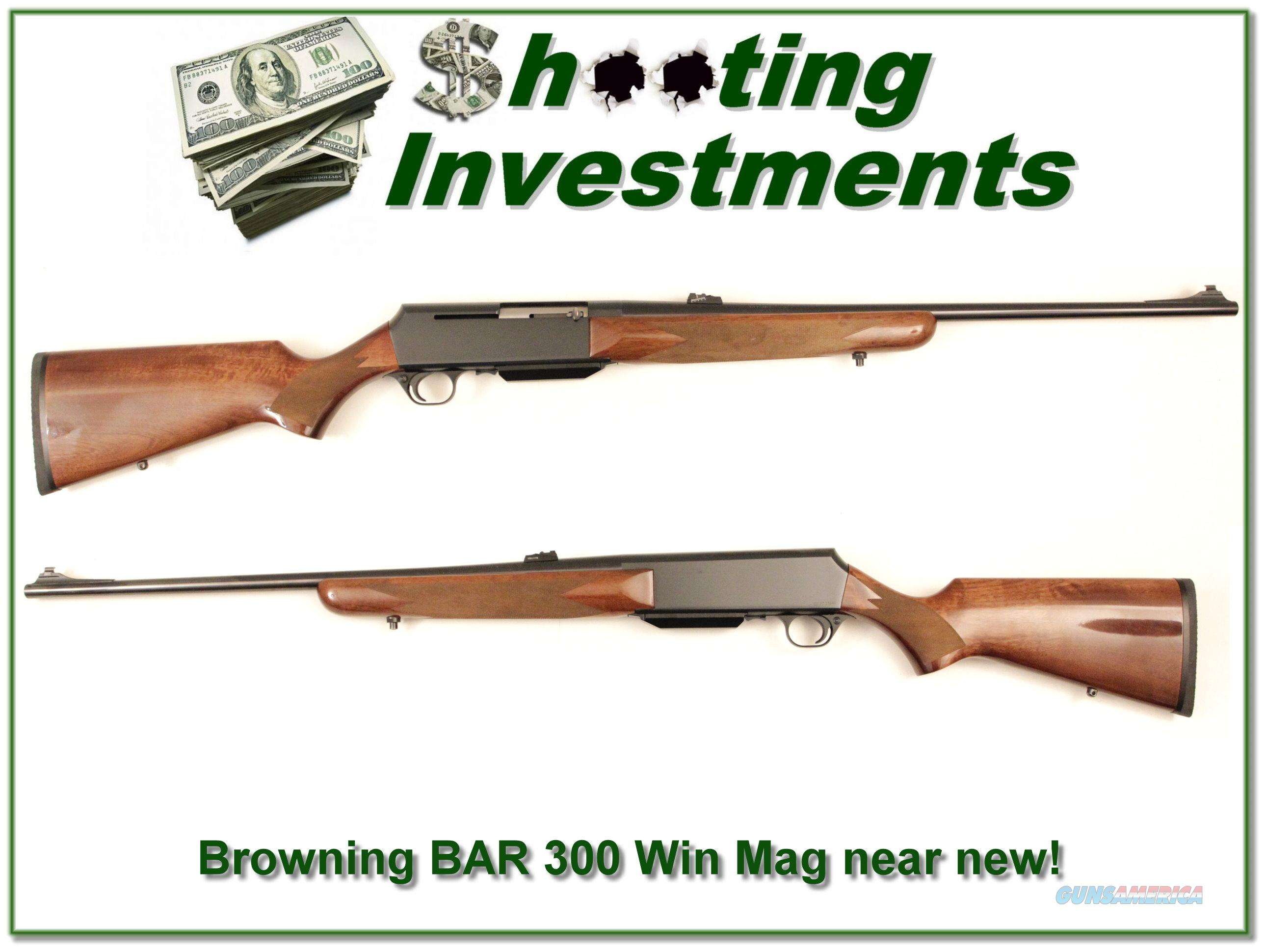 Browning BAR 300 Winchester Mag as new  Guns > Rifles > Browning Rifles > Semi Auto > Hunting