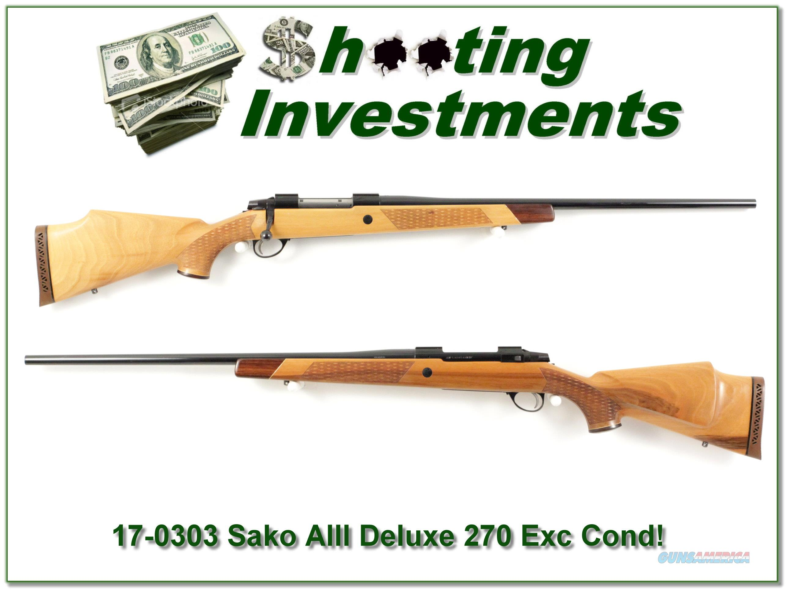 Sako AIII Deluxe 270 Winchester beautiful wood!  Guns > Rifles > Sako Rifles > Other Bolt Action