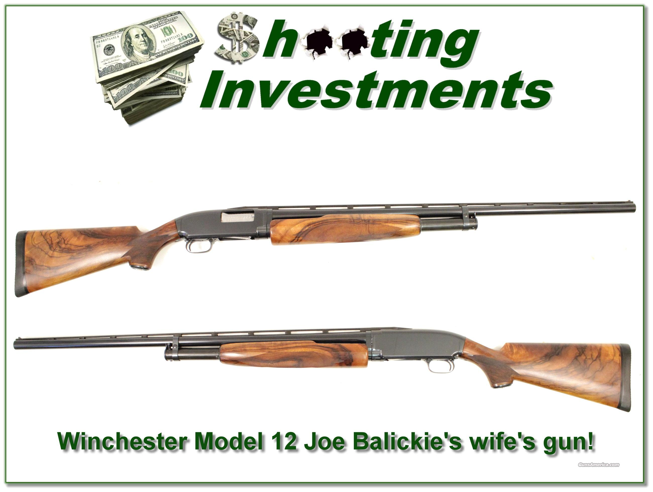 Joe Balickie custom Winchester Model 12, his wife's personal Trap gun!  Guns > Shotguns > Winchester Shotguns - Modern > Pump Action > Hunting