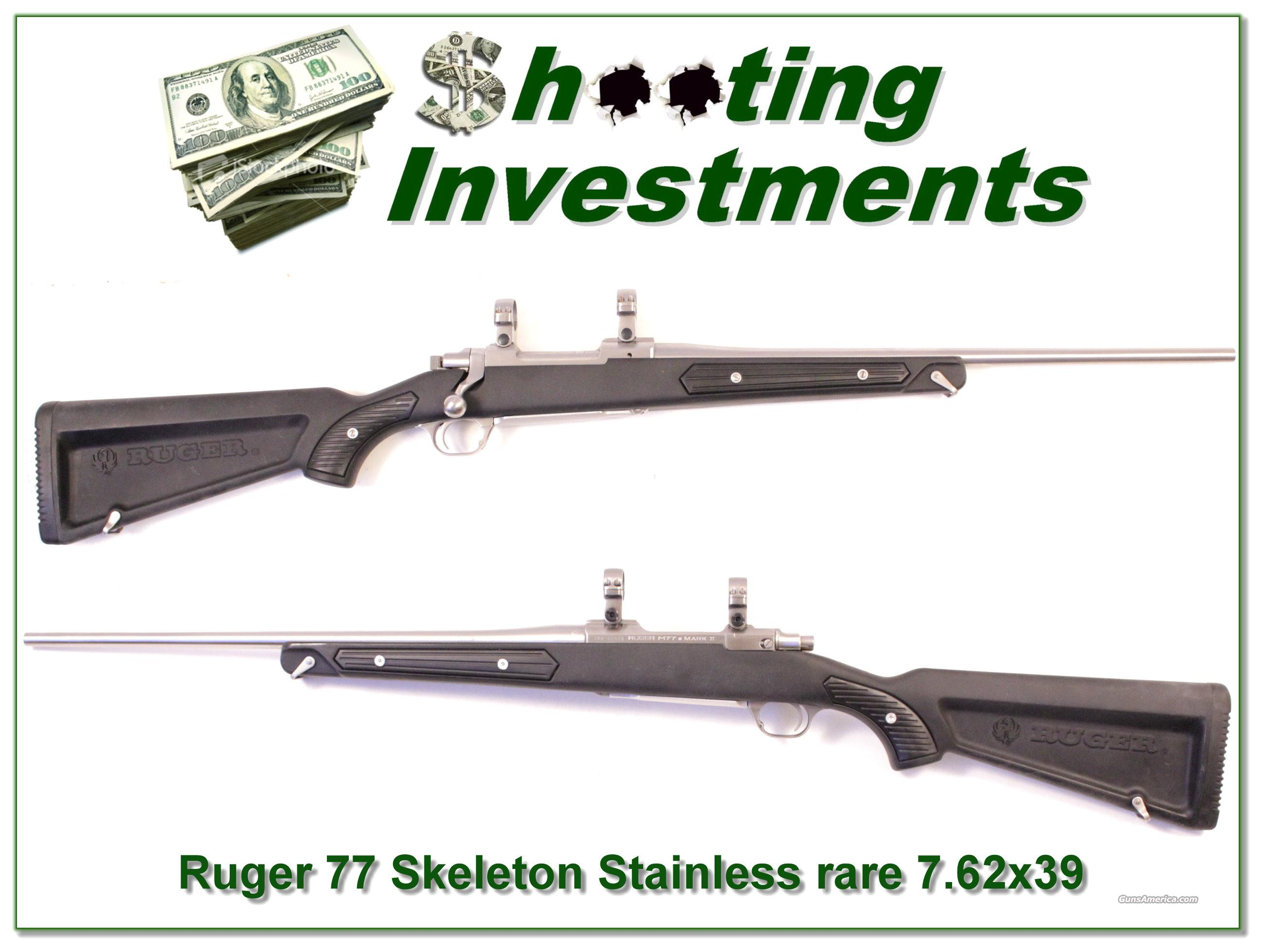 "Ruger Mark II Stainless ""Skeleton"" rare 7.62x39 as new  Guns > Rifles > Ruger Rifles > #1 Type"
