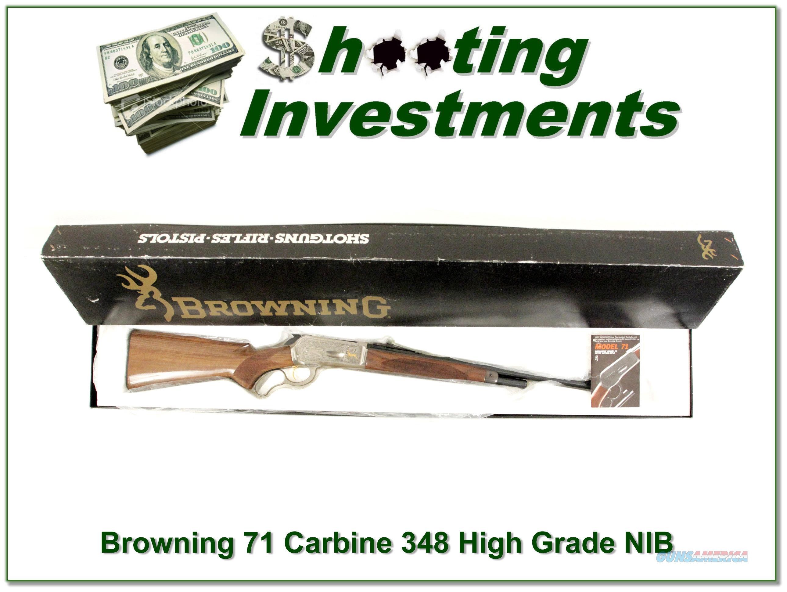 Browning Model 71 Carbine High Grade 348 Win NIB  Guns > Rifles > Browning Rifles > Lever Action