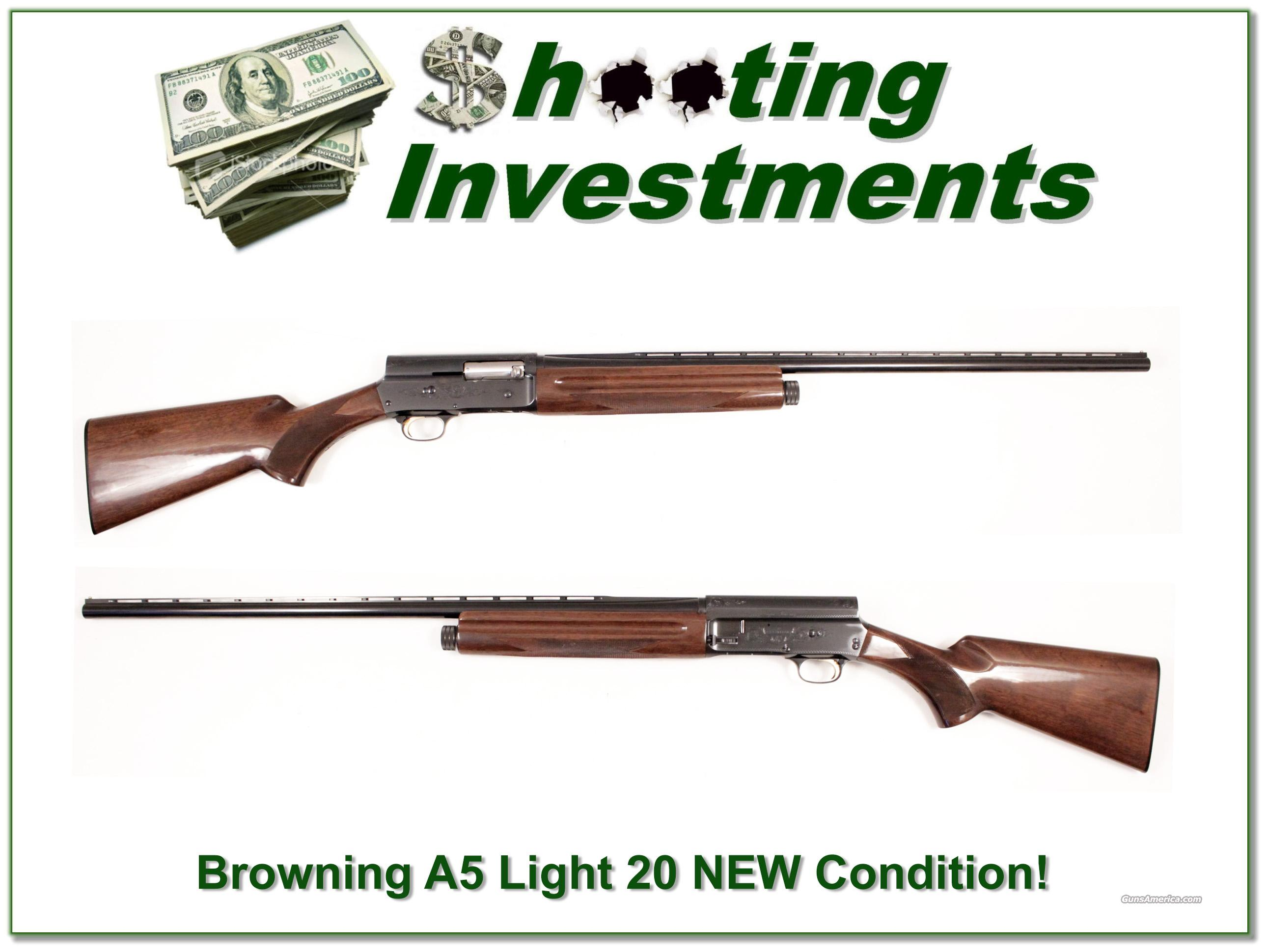 Browning A5 Light 20 28in VR Like NEW  Guns > Shotguns > Browning Shotguns > Autoloaders > Hunting