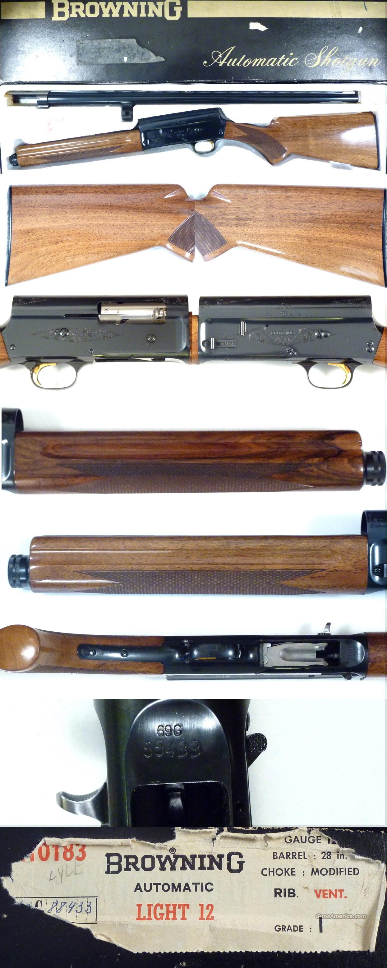 '69 Belgium Browning A5 Light 12 in original box  Guns > Shotguns > Browning Shotguns > Autoloaders > Hunting