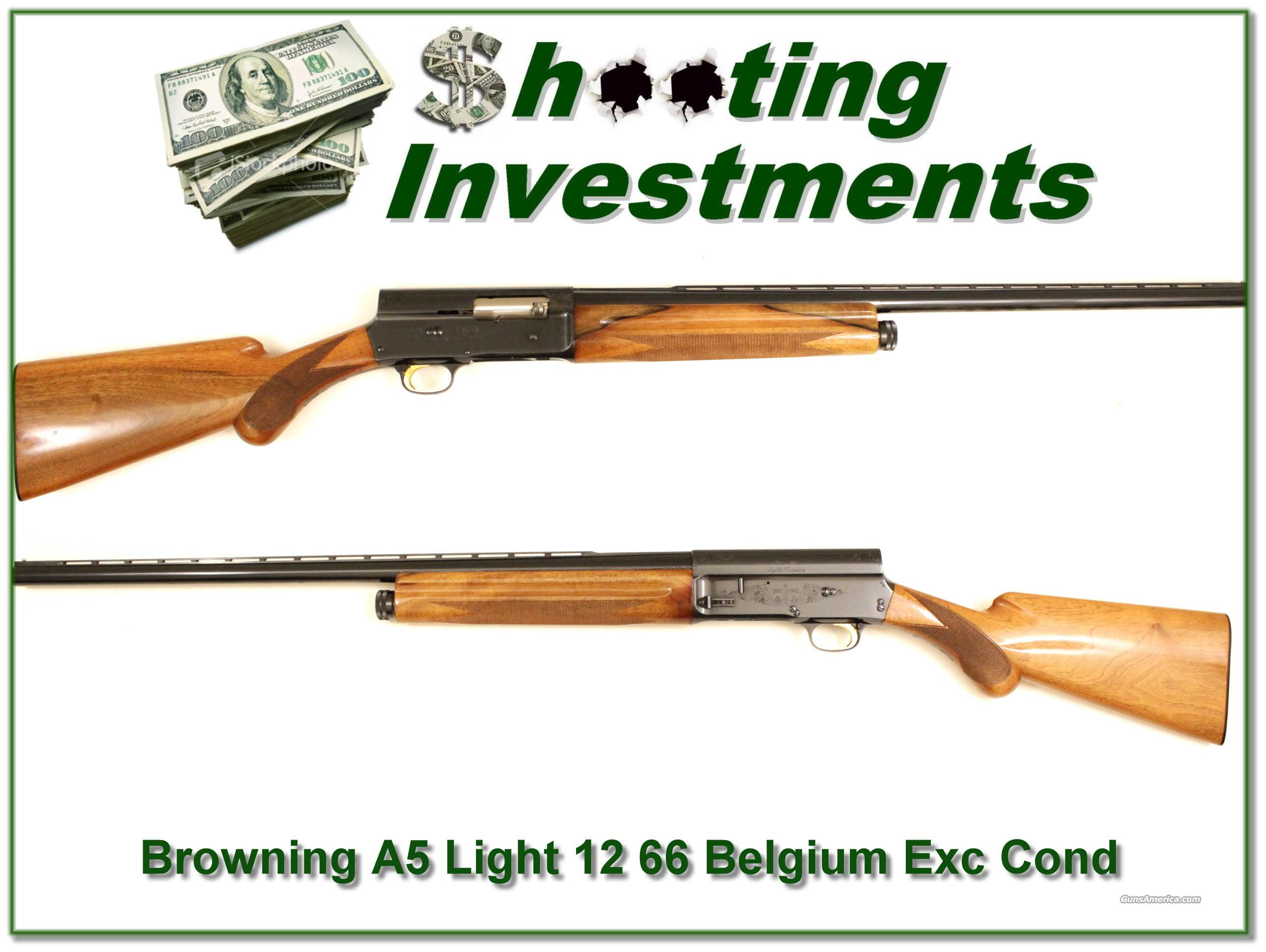 Browning A5 Light 12 66 Belgium blond near new  Guns > Shotguns > Browning Shotguns > Autoloaders > Hunting