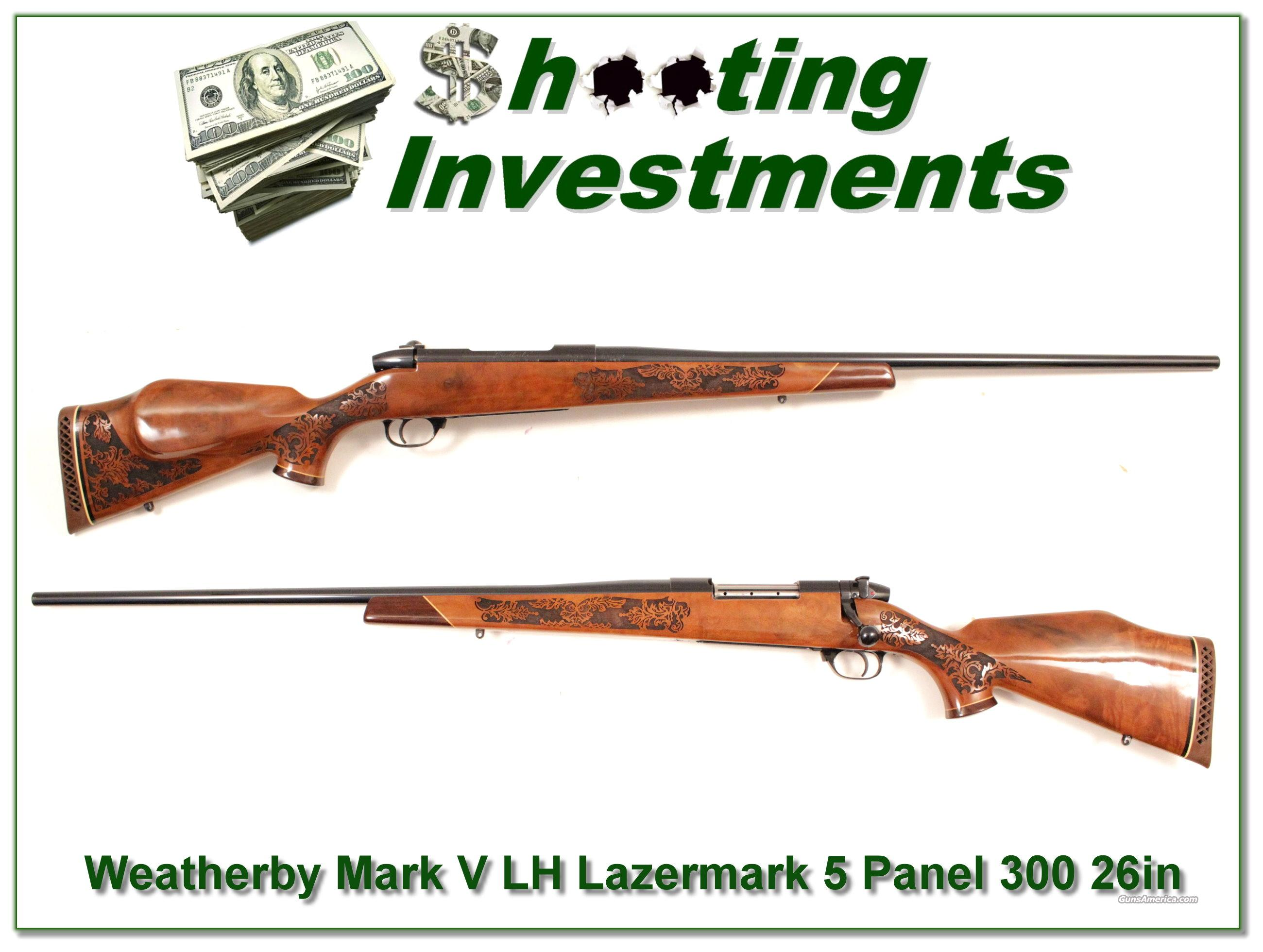 Weatherby Mark V Lazermark 5 Panel 26in 300 as new  Guns > Rifles > Weatherby Rifles > Sporting