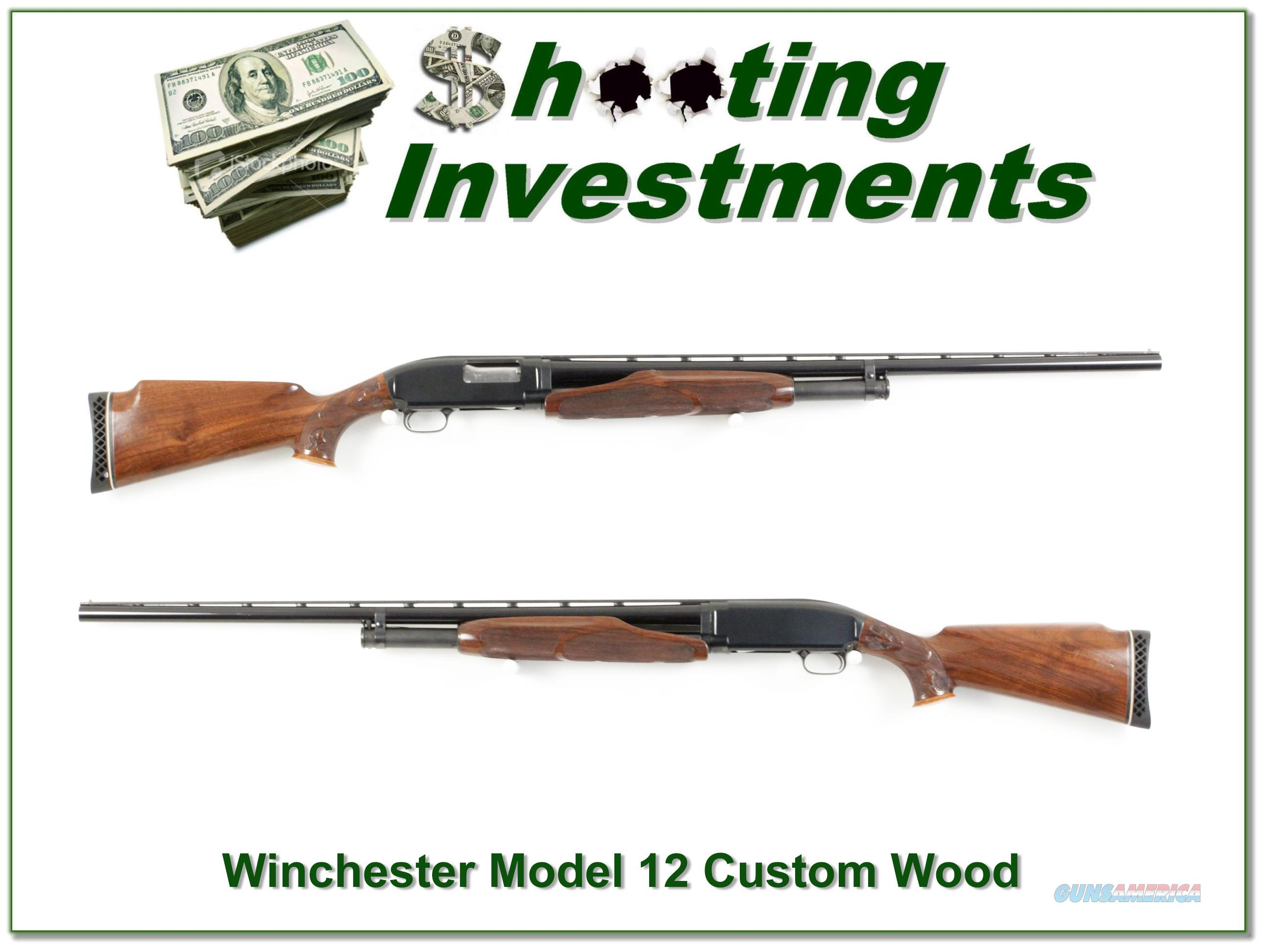 Winchester Model 12 Trap 12 Ga Custom Wood Vent Rib made in 1948  Guns > Shotguns > Winchester Shotguns - Modern > Pump Action > Trap/Skeet