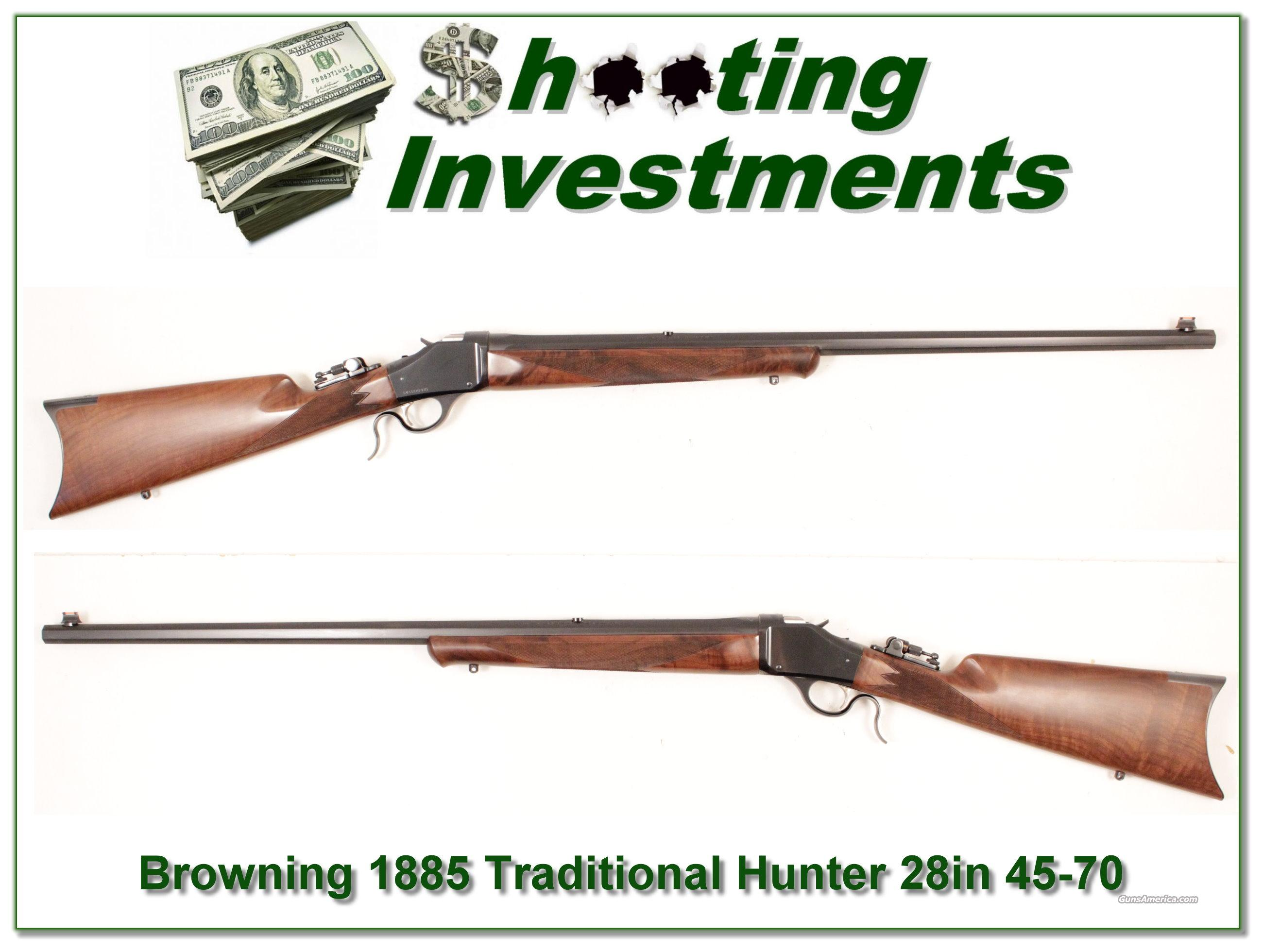 Browning 1885 Traditional Hunter in 45-70 28in Octagonal!  Guns > Rifles > Browning Rifles > Singe Shot