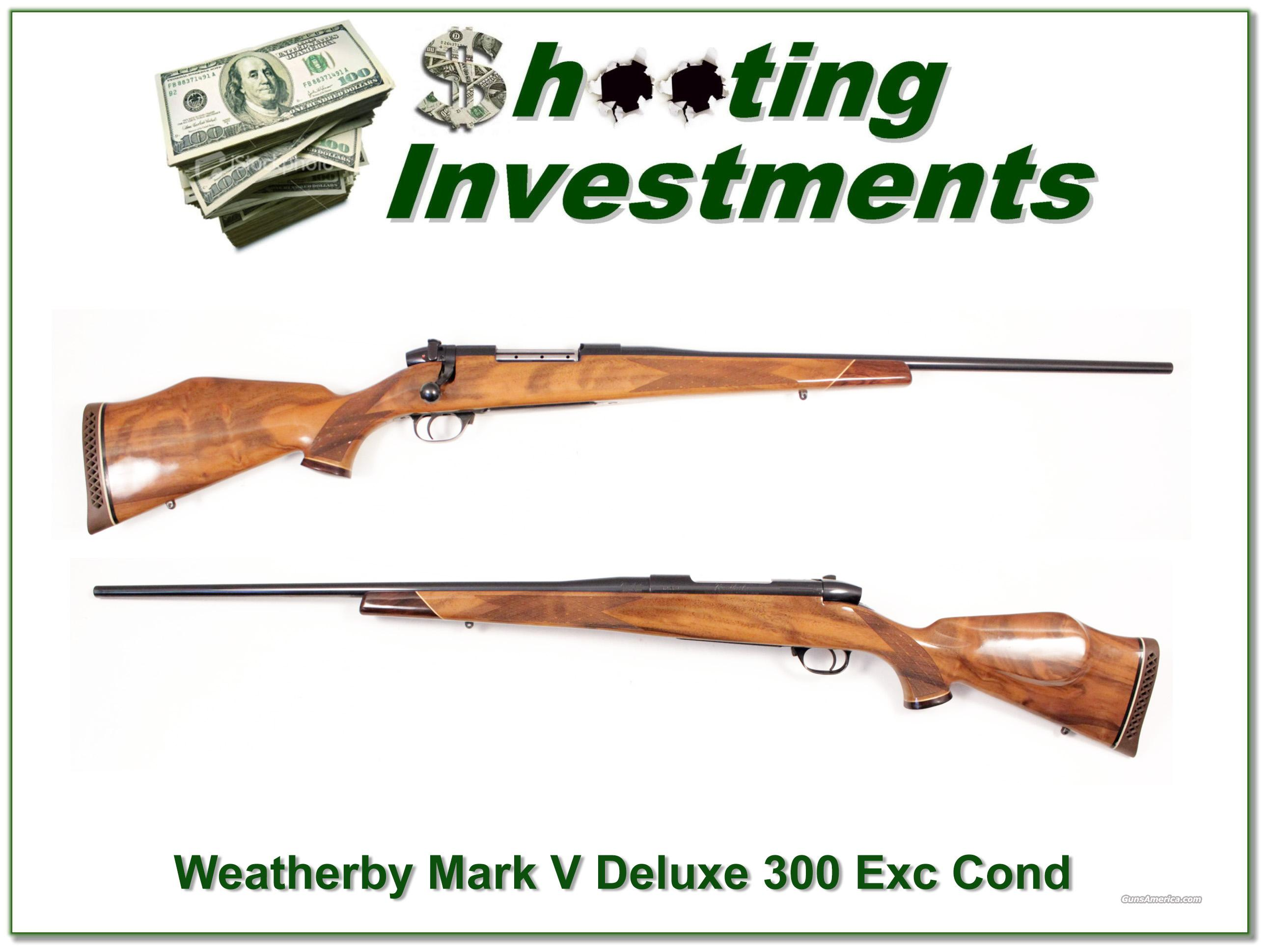 Weatherby Mark V Deluxe 300 Exc Wood!  Guns > Rifles > Weatherby Rifles > Sporting