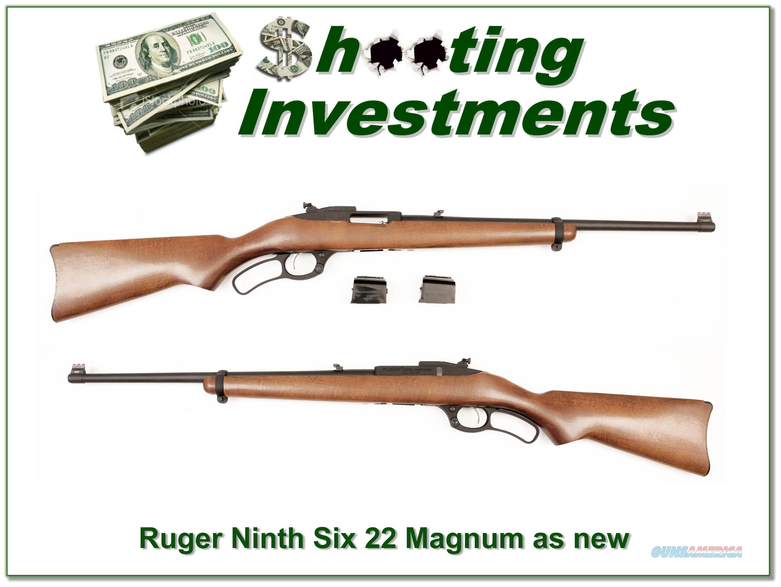 Ruger Model 96 22 Magnum Collector Condition 3 Magazines  Guns > Rifles > Ruger Rifles > Lever Action