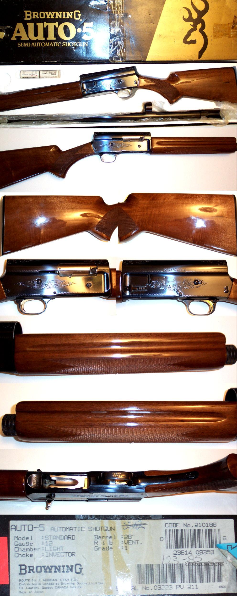 Browning A5 Light 12 ANIB  Guns > Shotguns > Browning Shotguns > Autoloaders > Hunting