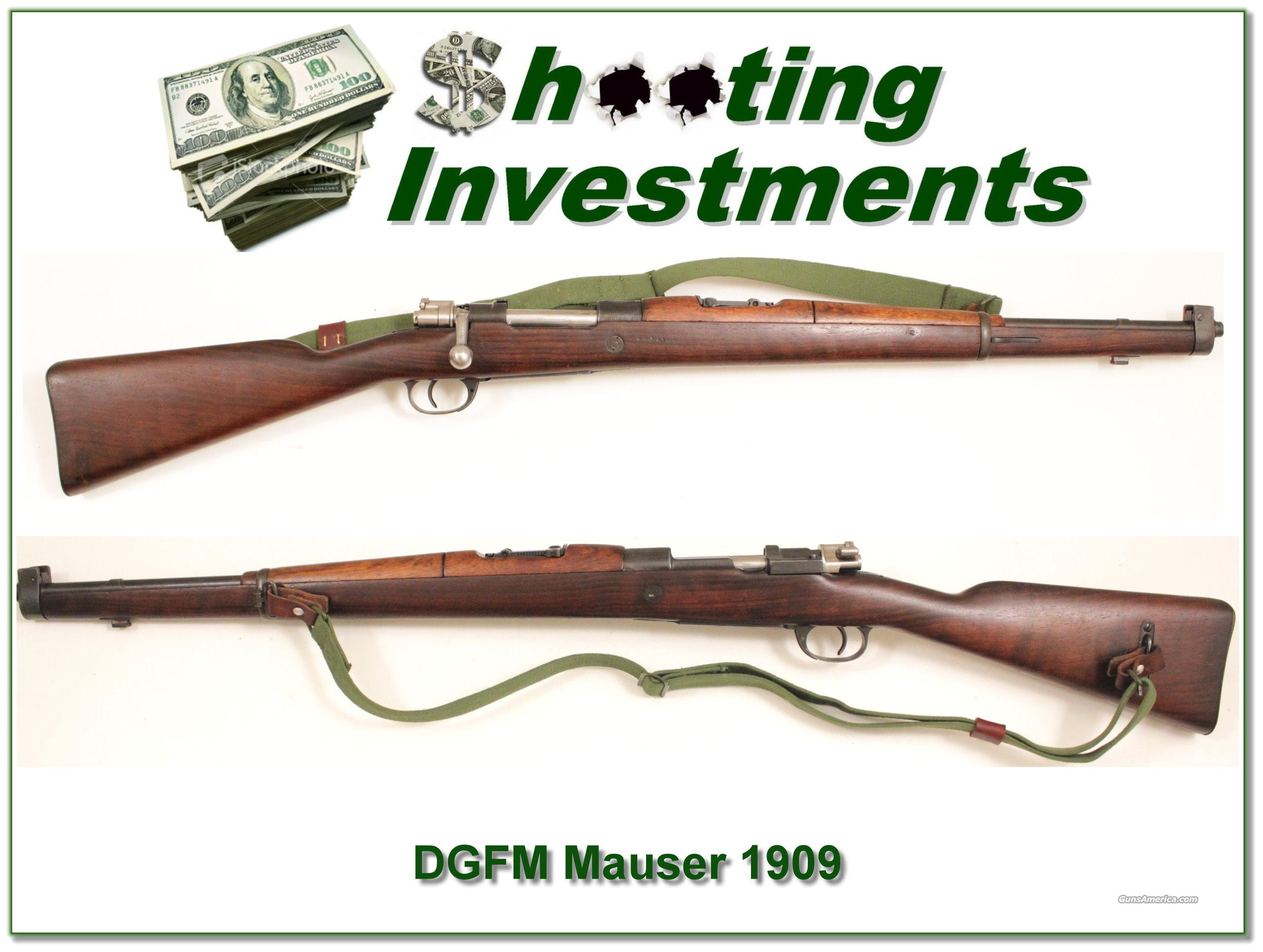 DGFM Mauser 1909 Carbine 7.65 Arg.  Guns > Rifles > Military Misc. Rifles Non-US > Other