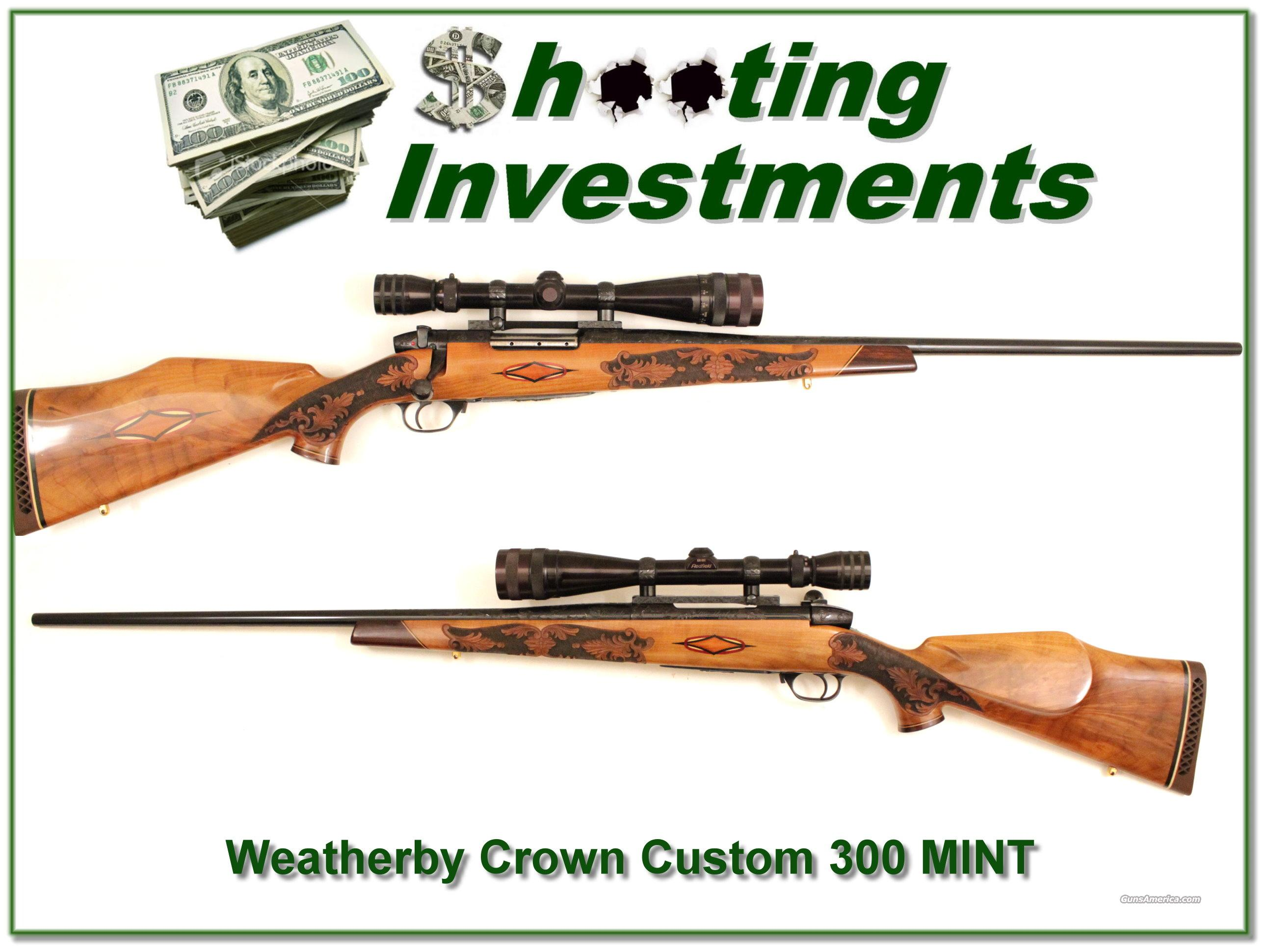 Weatherby Custom Crown 300 as new!   Guns > Rifles > Weatherby Rifles > Sporting