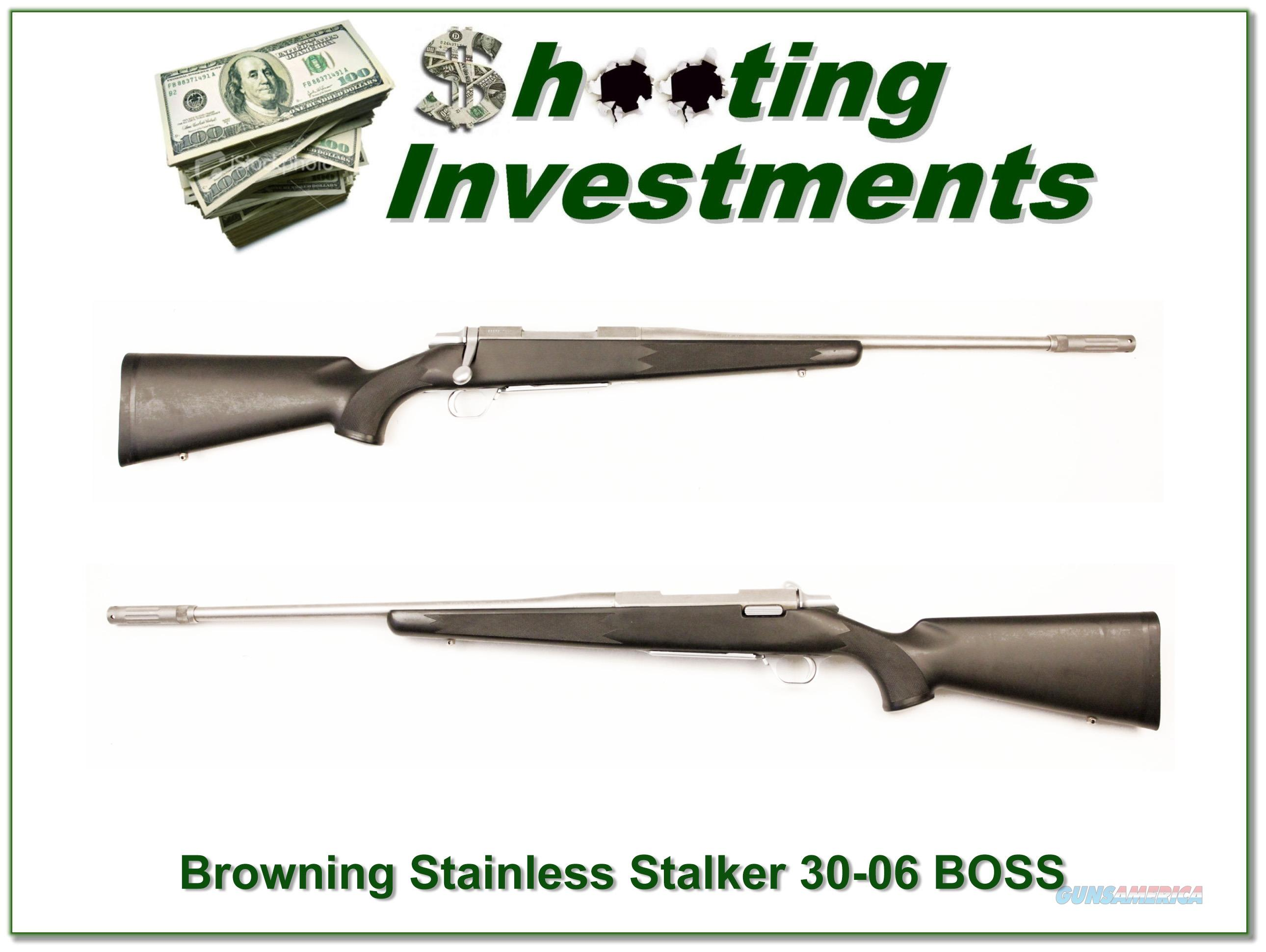 Browining A-bolt II Stainless Stalker with BOSS in 30-06  Guns > Rifles > Browning Rifles > Bolt Action > Hunting > Stainless
