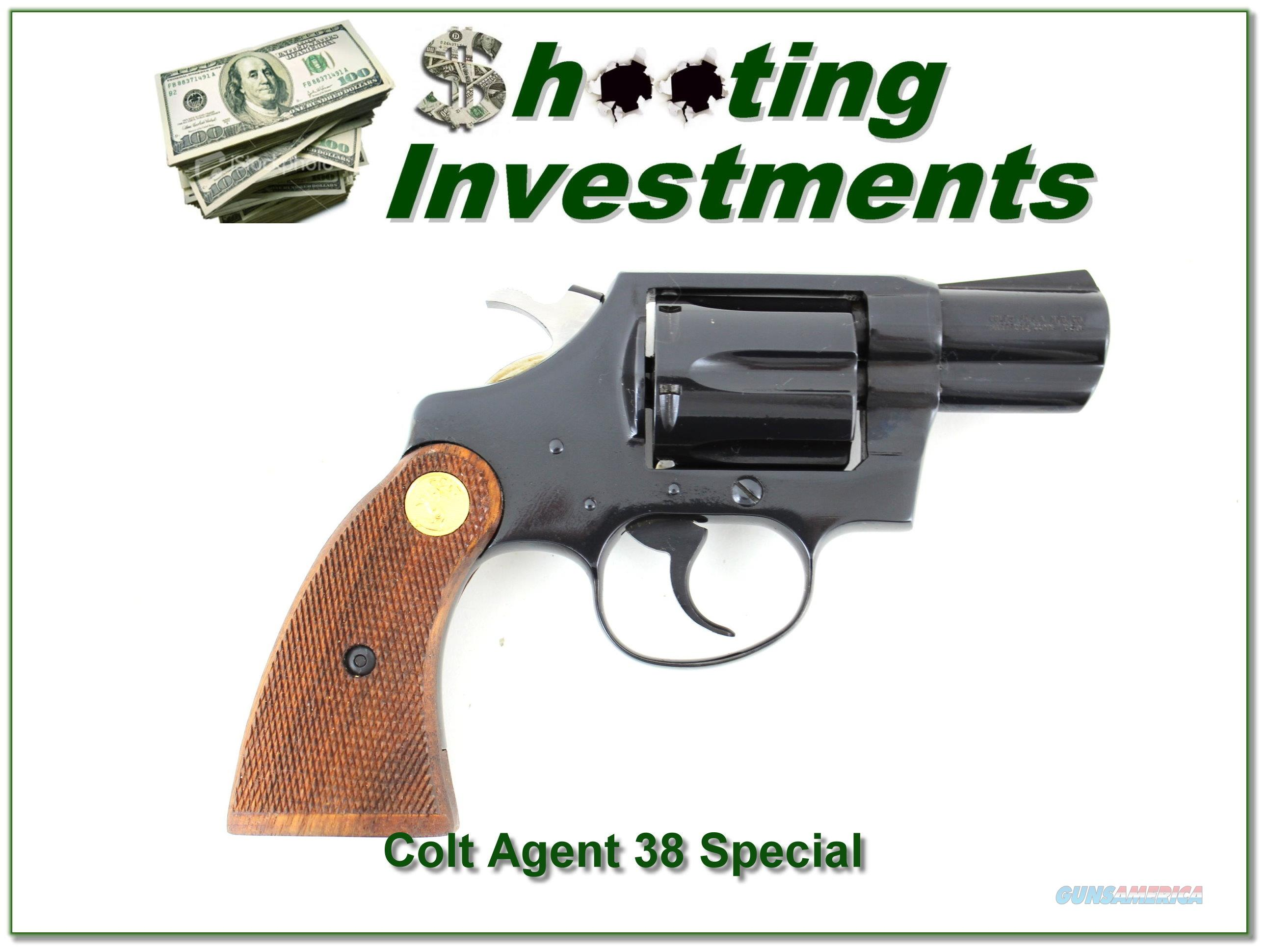 Colt Agent 38 Special 1979 2in in box  Guns > Pistols > Colt Double Action Revolvers- Modern