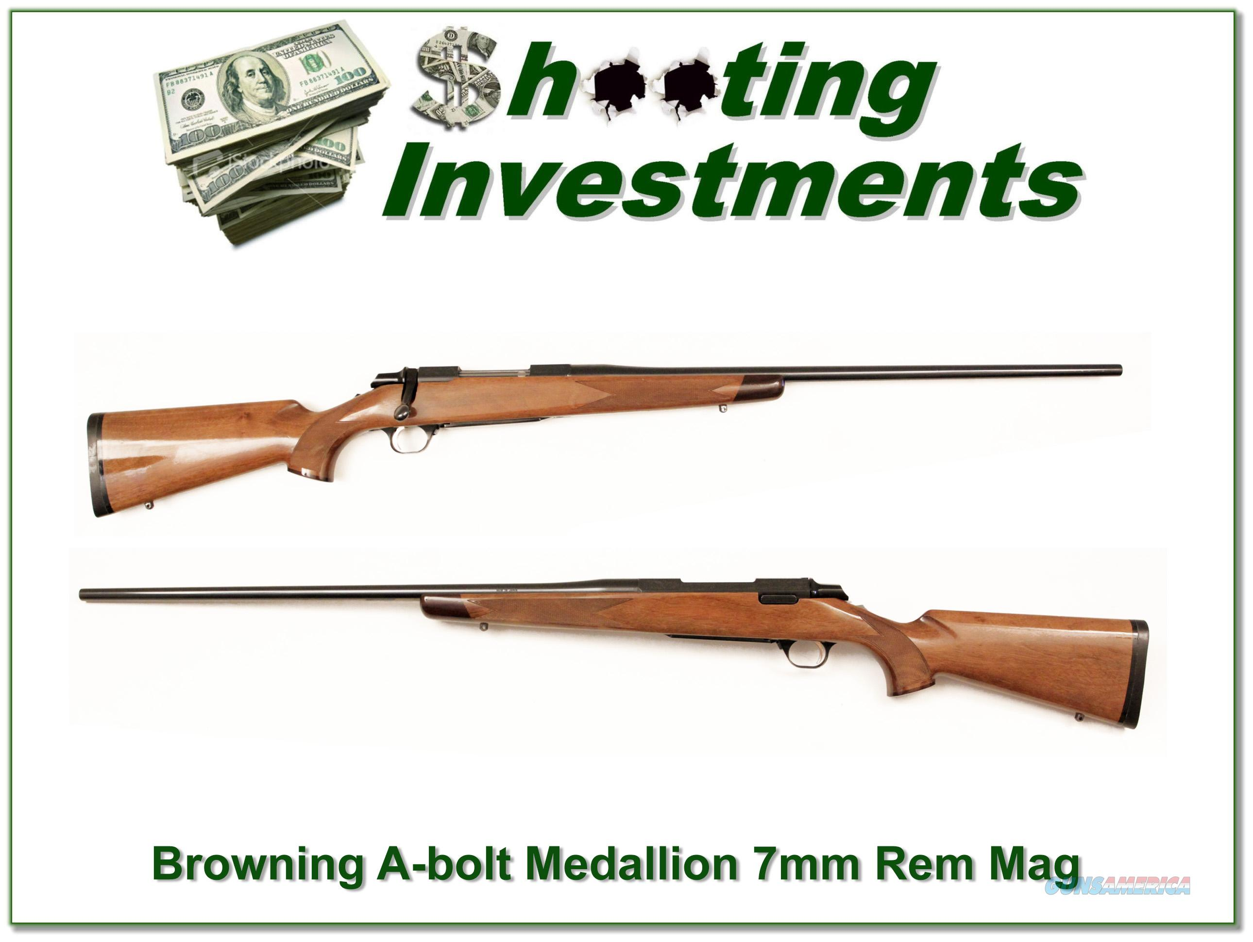 Browning A-bolt Medallion 7mm Rem Mag  Guns > Rifles > Browning Rifles > Bolt Action > Hunting > Blue