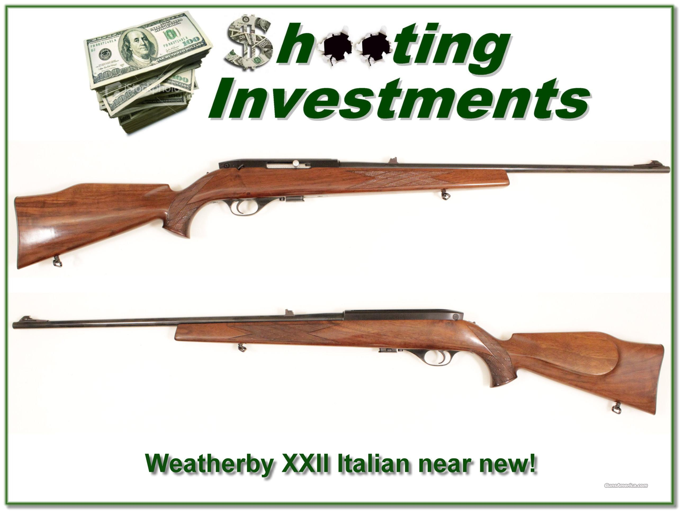 Weatherby Mark XXII 22 auto Italian  Guns > Rifles > Weatherby Rifles > Sporting